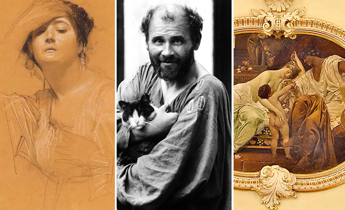 Gustav Klimt (u sredini)