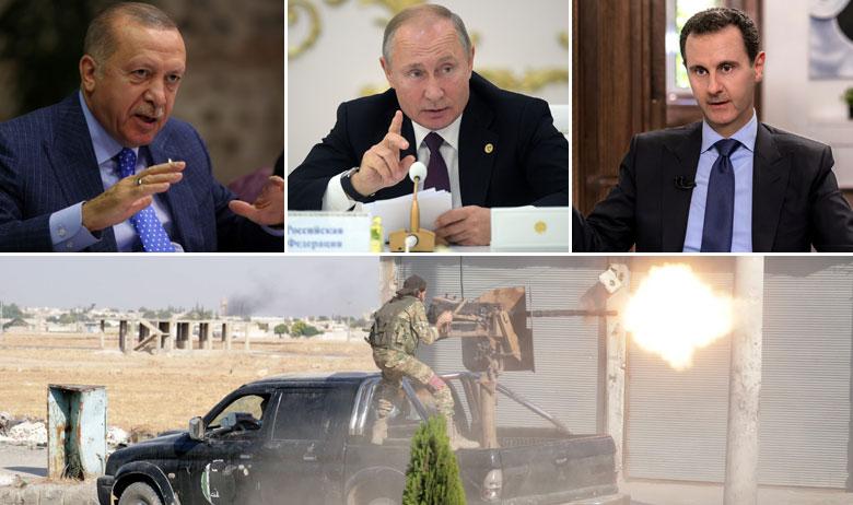 Recep Tayyip Erdoğan, Vladimir Putin, Bašar al-Asad