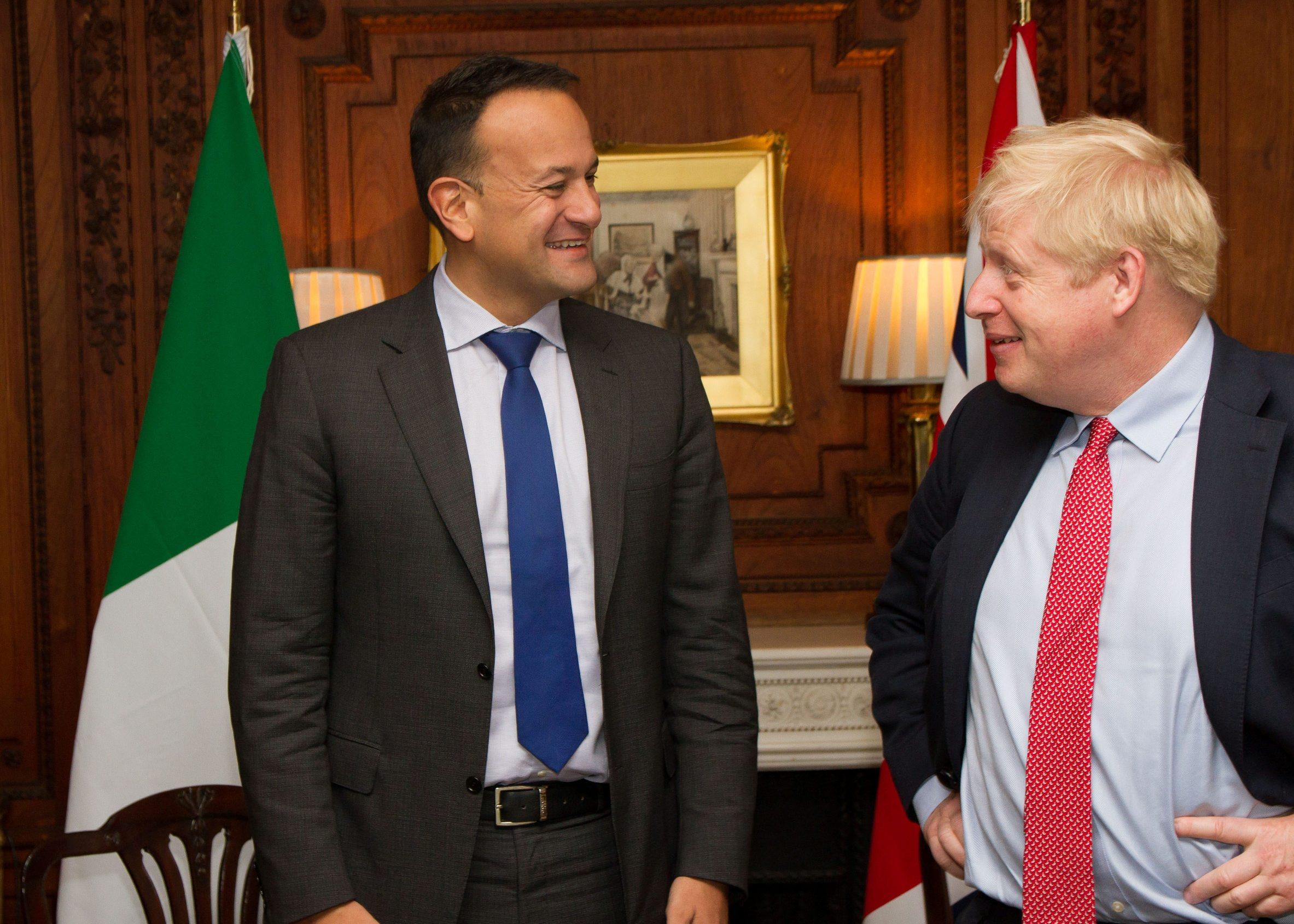 Irski premijer Leo Varadkar i britanski kolega Boris Johnson na nedavnom tajnom sastanku u Engleskoj