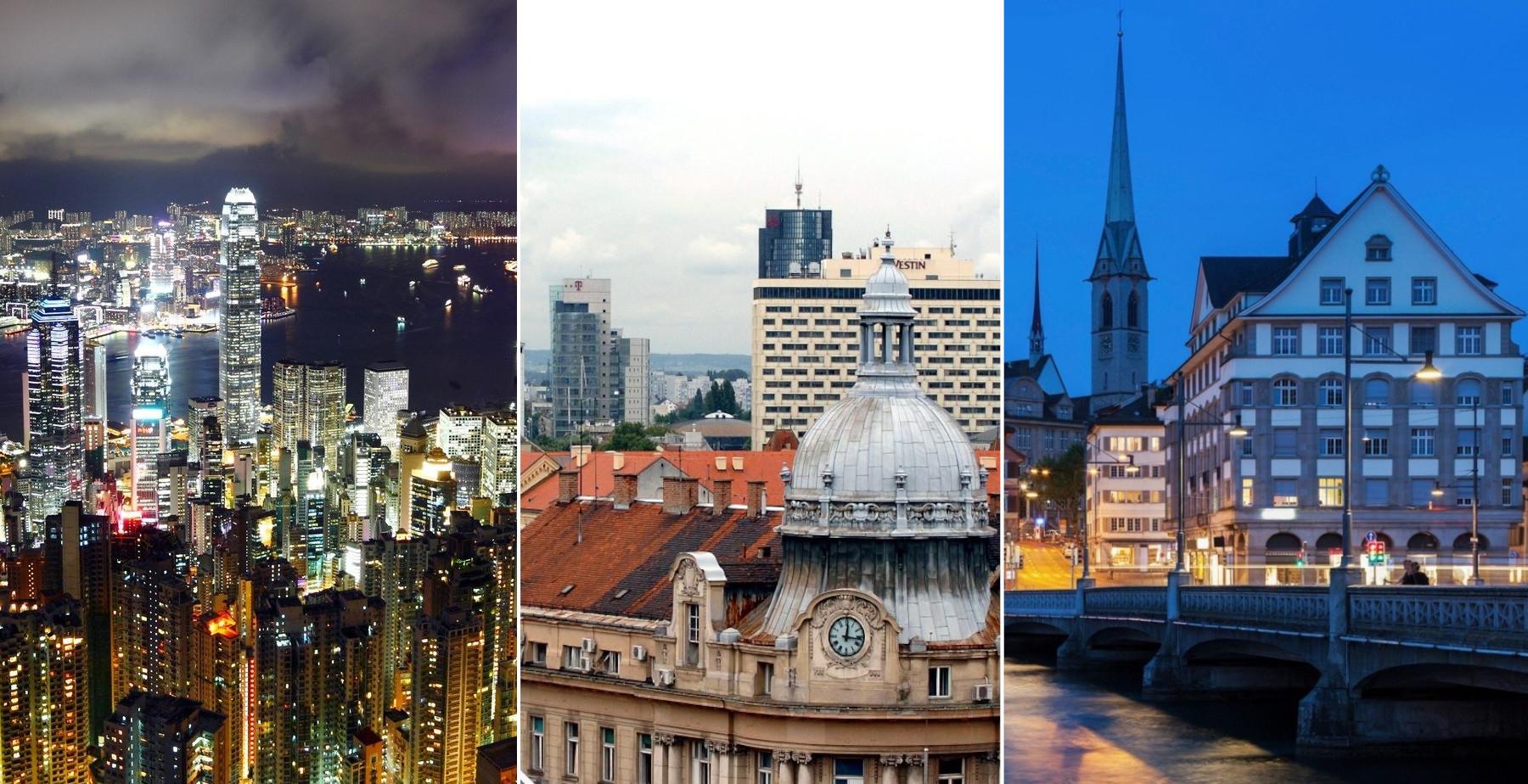 Hong Kong, Zagreb, Zürich
