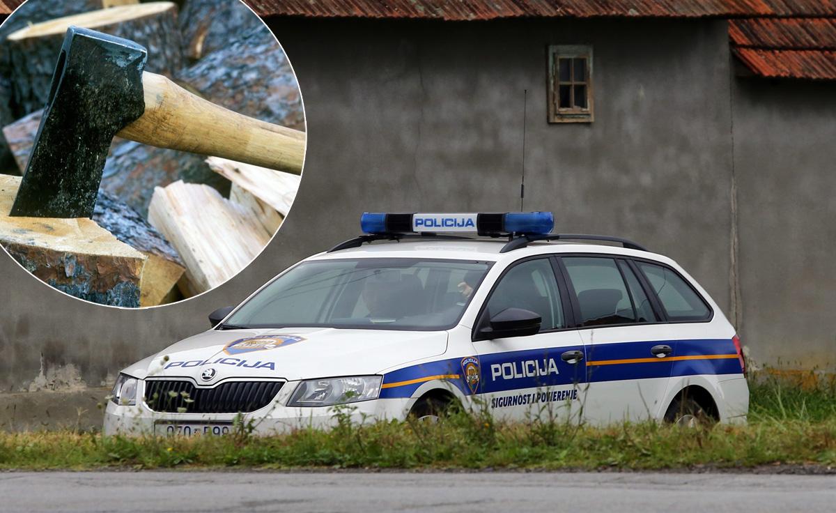 Policija, sjekira (ilustracija)