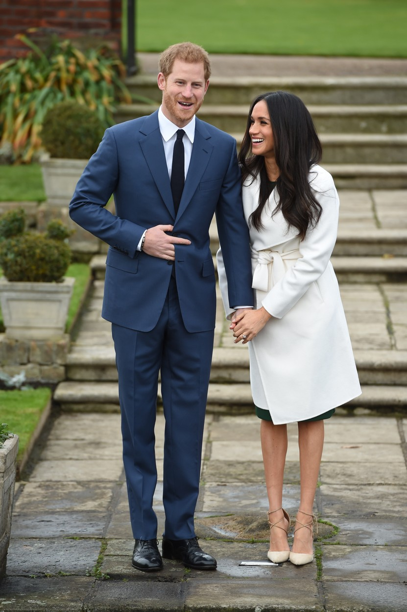 Prince Harry and Meghan Markle at a photocall to officially announce their engagement at the Sunken Garden at Kensington Palace. London, United Kingdom - Monday November 27, 2017., Image: 356256487, License: Rights-managed, Restrictions: NO UK USE  FOR SEVEN DAYS- Fee Payable Upon Reproduction - For queries contact Avalon.red - sales@avalon.red  London: +44 (0) 20 7421 6000  Los Angeles: +1 (310) 822 0419  Berlin: +49 (0) 30 76 212 251, Model Release: no, Credit line: Avalon.red / Avalon Editorial / Profimedia