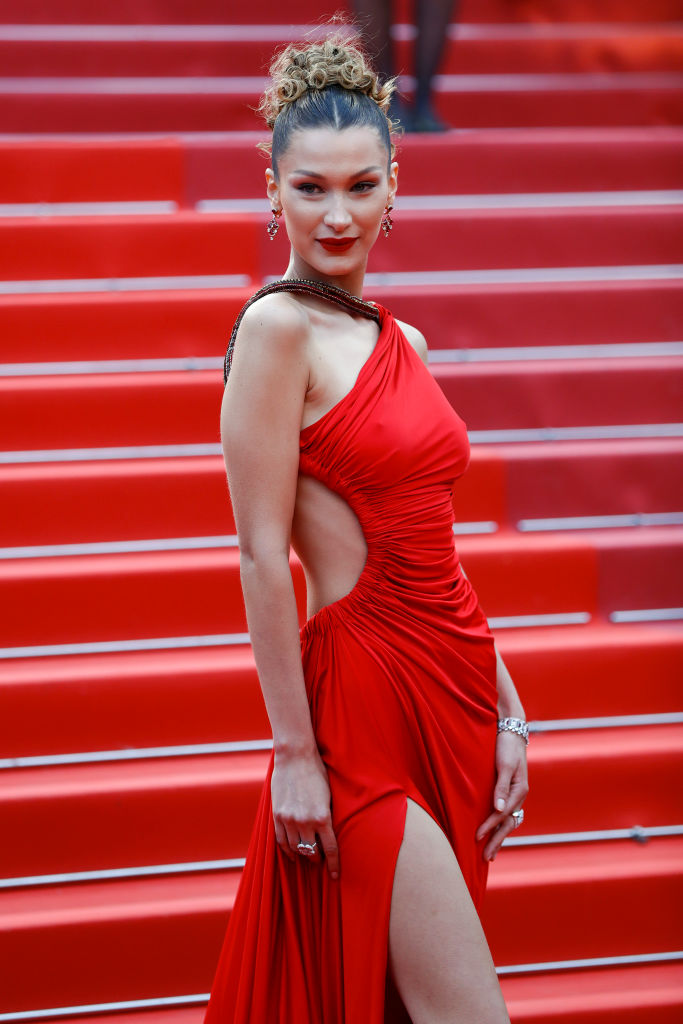 CANNES, FRANCE - MAY 17: Bella Hadid attends the screening of