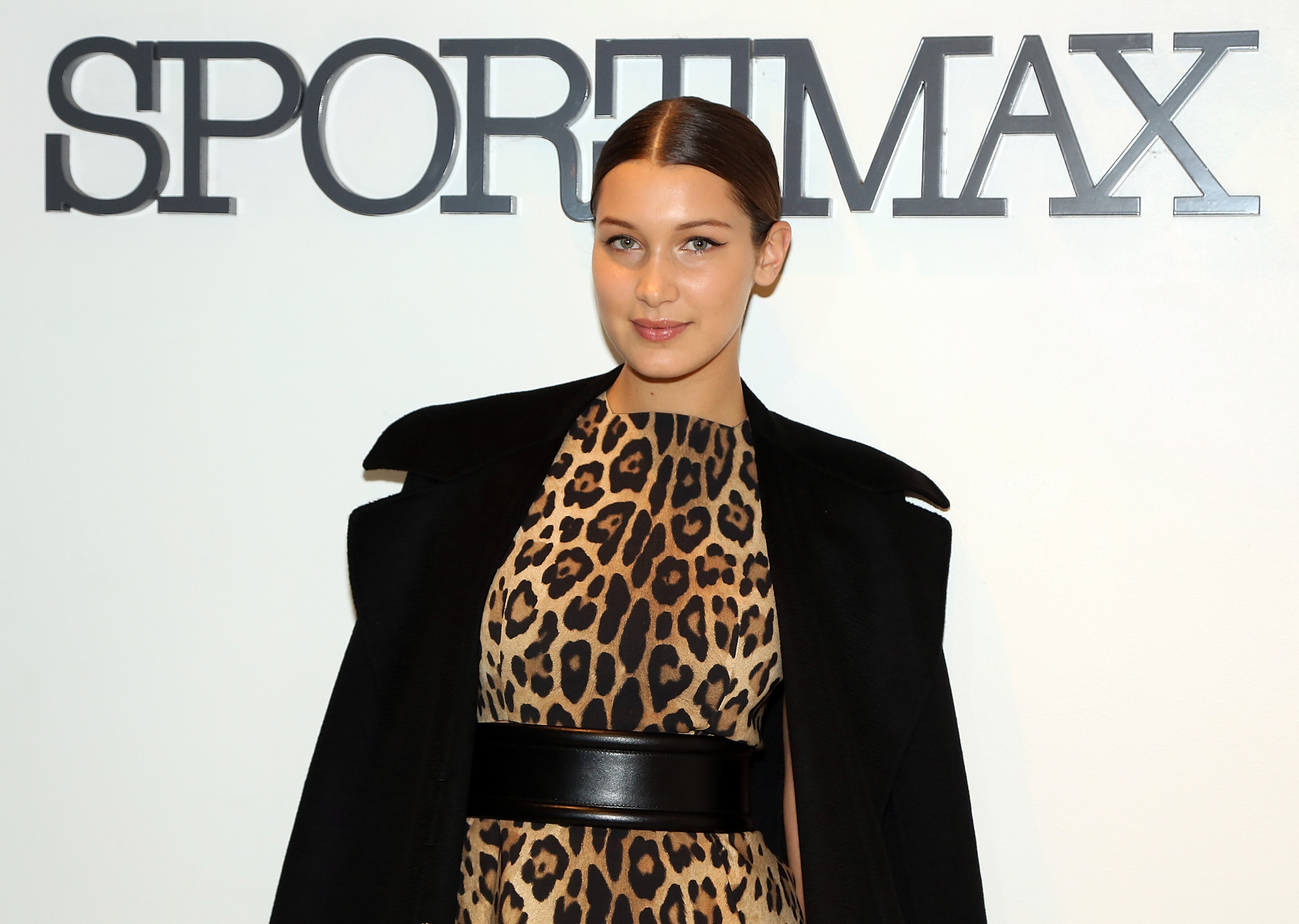 NEW YORK, NY - OCTOBER 28:  Model Bella Hadid attends Sportmax and Teen Vogue Celebrate The Fall/Winter 2014 Collection at Sportmax on October 28, 2014 in New York City.  (Photo by Monica Schipper/Getty Images for Teen Vogue)