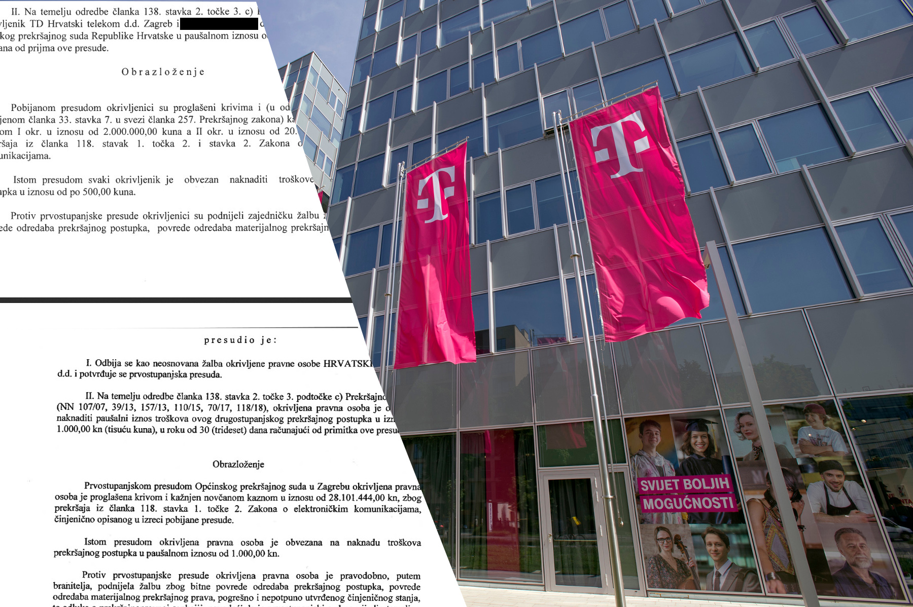 Nova zgrada Hrvatskog Telekoma (HT) u Radničkoj 21, dokumenti HAKOM-a