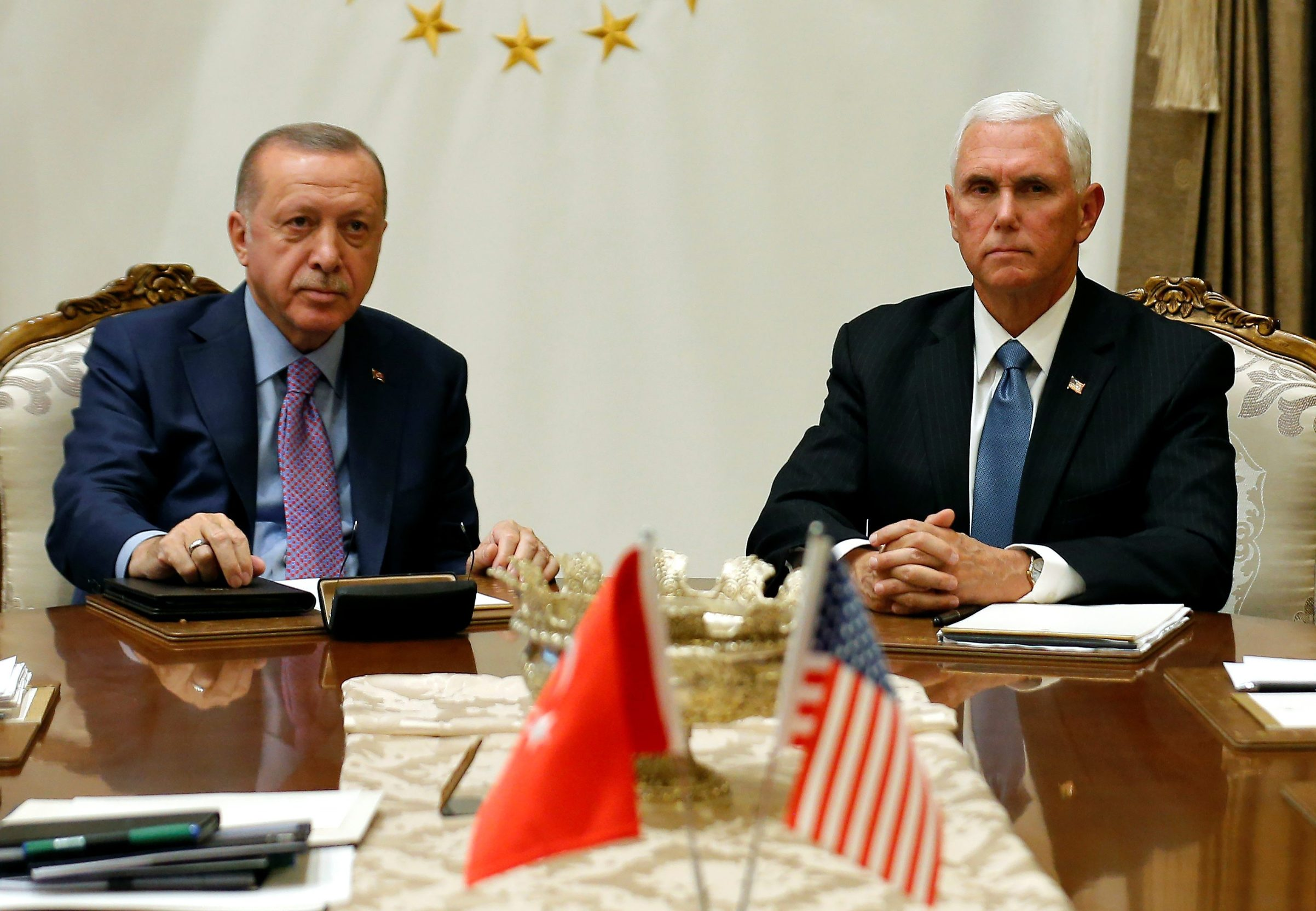 Recep Tayyip Erdogan i Mike Pence