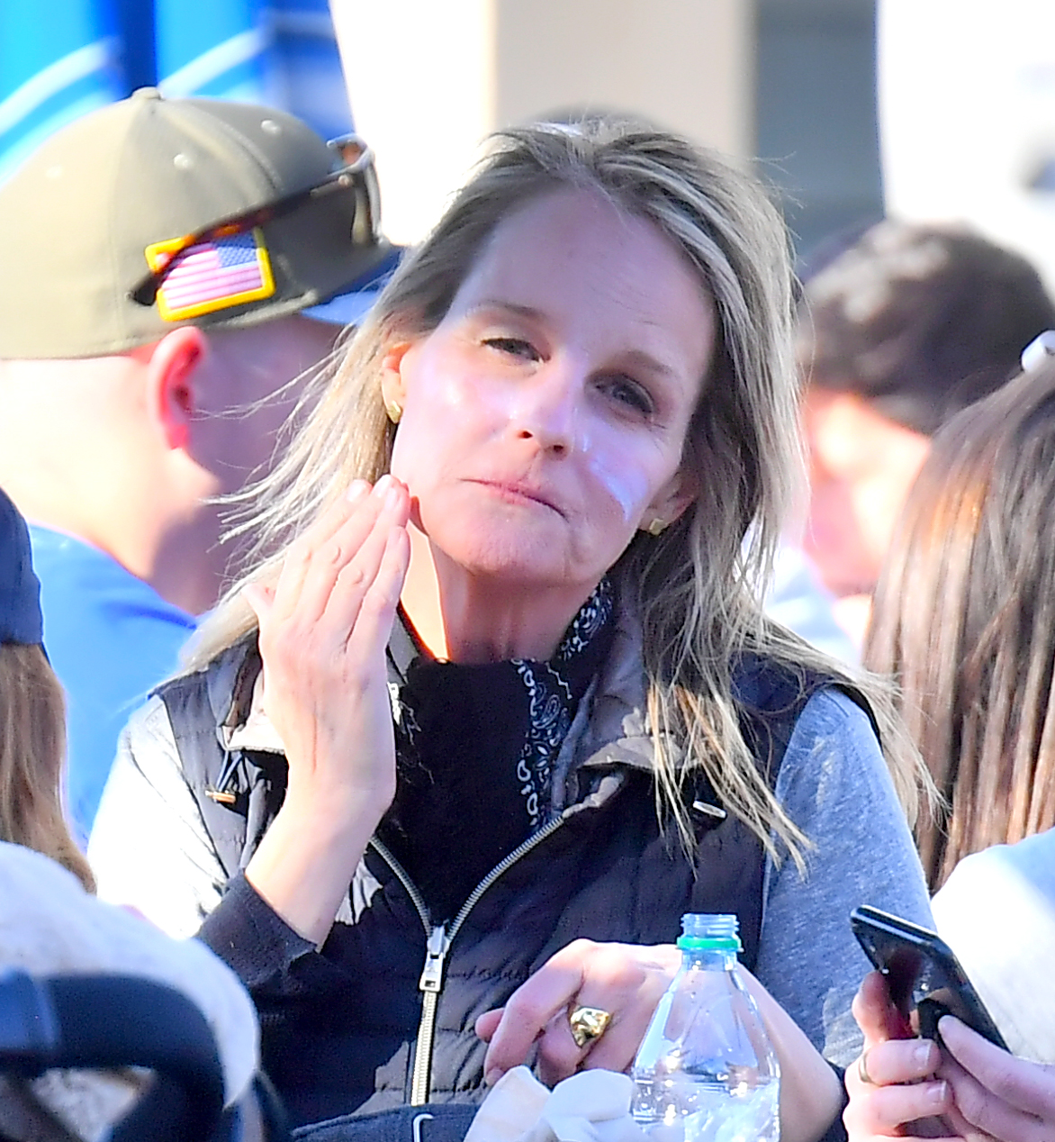 EXCLUSIVE: Helen Hunt spends times with her daughter and friends having a blast at Disney's California Adventure. The actress was seen having a blast and putting her hands in the air on the Radiator Springs ride in Carsland. She was also seen reapplying sunscreen on her face before enjoying lunch outdoors. 15 Mar 2019, Image: 419866802, License: Rights-managed, Restrictions: World Rights, Model Release: no, Credit line: Marksman / MEGA / Mega Agency / Profimedia
