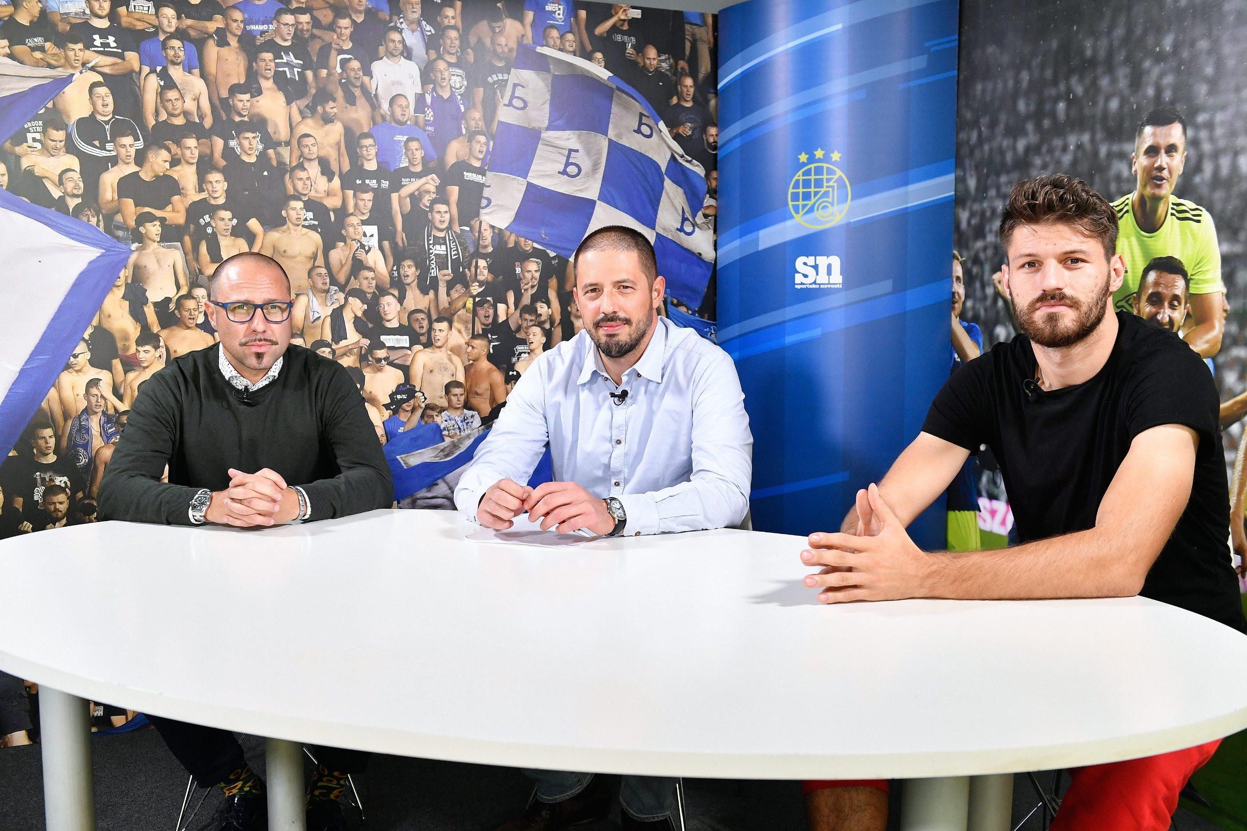 Zagreb, 171019.  Podcast sportskih novosti. Na fotografiji: Igor Jovicevic, Sinisa Susec i Bruno Petkovic. Foto: Goran Mehkek / CROPIX