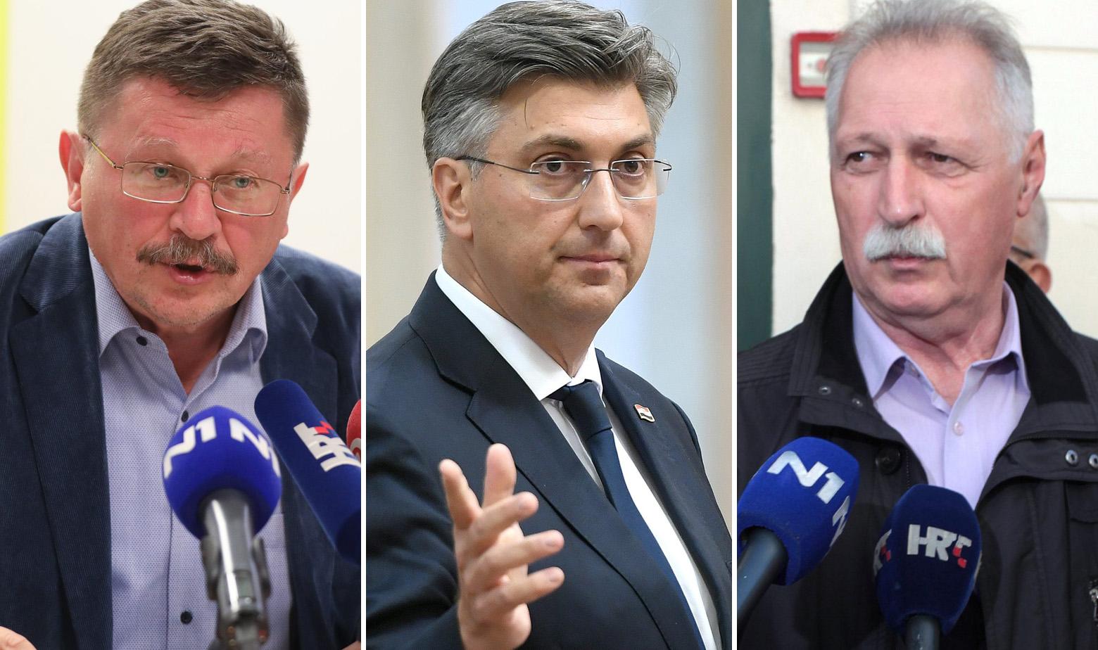 Vilim Ribić, Andrej Plenković i Branimir Mihalinec