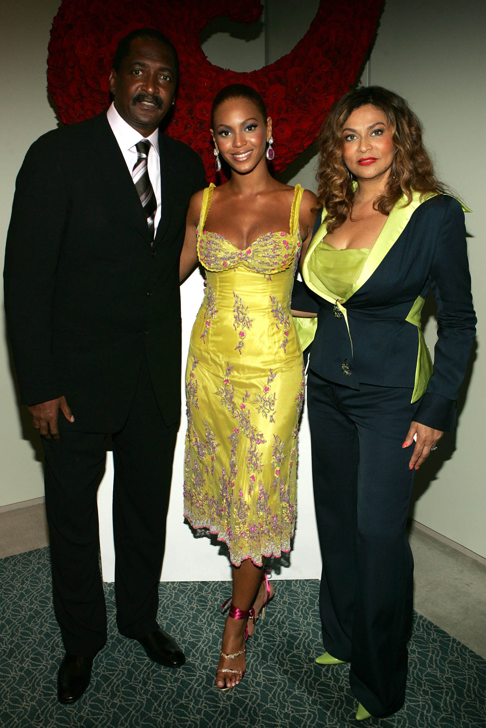 NEW YORK - JUNE 23:  (EXCLUSIVE) (L-R) Singer Beyonce Knowles(C) poses with her father and  manager Matthew Knowles and her mother Tina Knowles at the