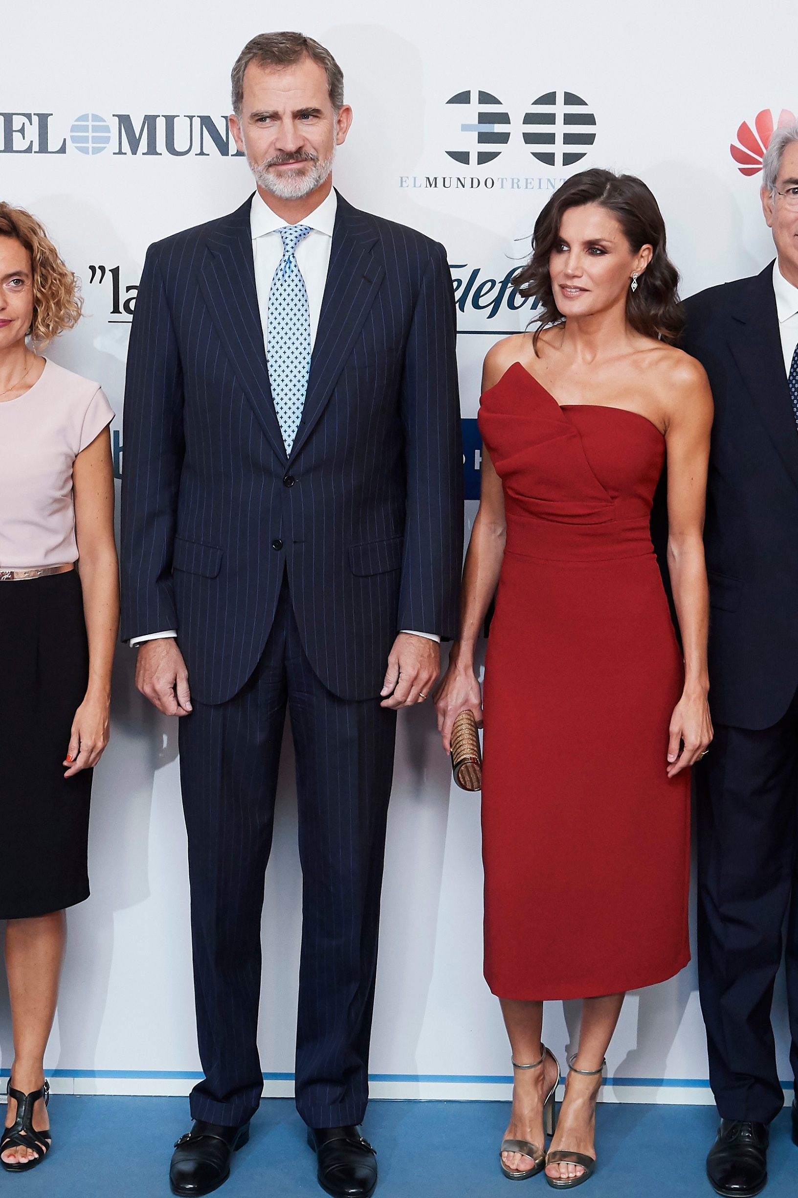 MADRID, SPAIN - OCTOBER 01: King Felipe VI of Spain and Queen Letizia of Spain attend 'El Mundo' newspaper 30th anniversary at the Palace Hotel on October 01, 2019 in Madrid, Spain. (Photo by Carlos Alvarez/Getty Images)