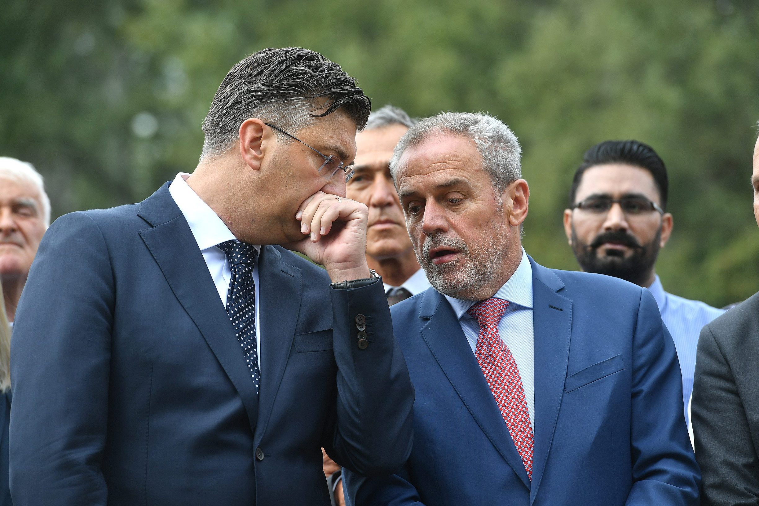 Na fotografiji: Andrej Plenković i Milan Bandić