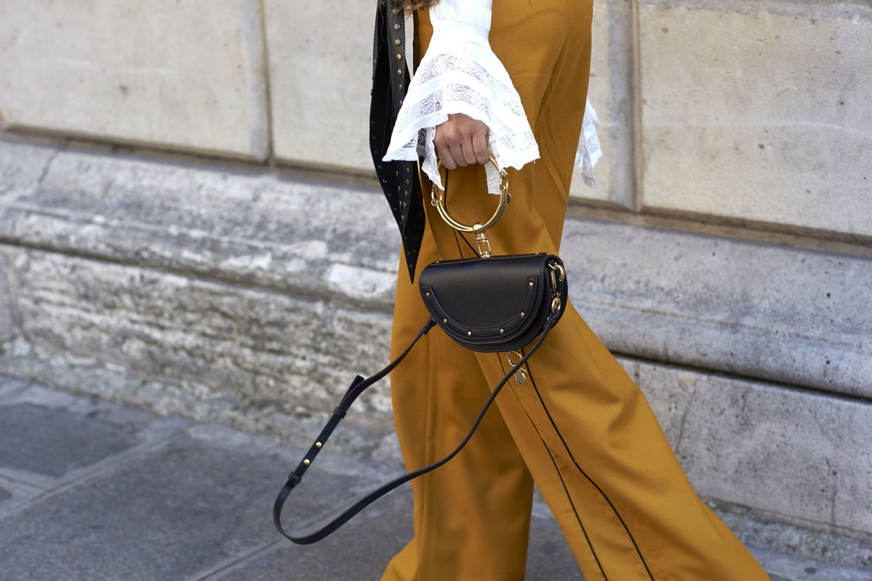 Chloe bag, Street Style, Haute Couture Fashion Week, Paris, France  - 04 Jul 2017, Image: 341116990, License: Rights-managed, Restrictions: , Model Release: no, Credit line: Dvora / Shutterstock Editorial / Profimedia