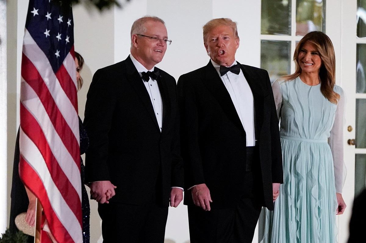 Scott Morrison, Donald Trump i Melania Trump