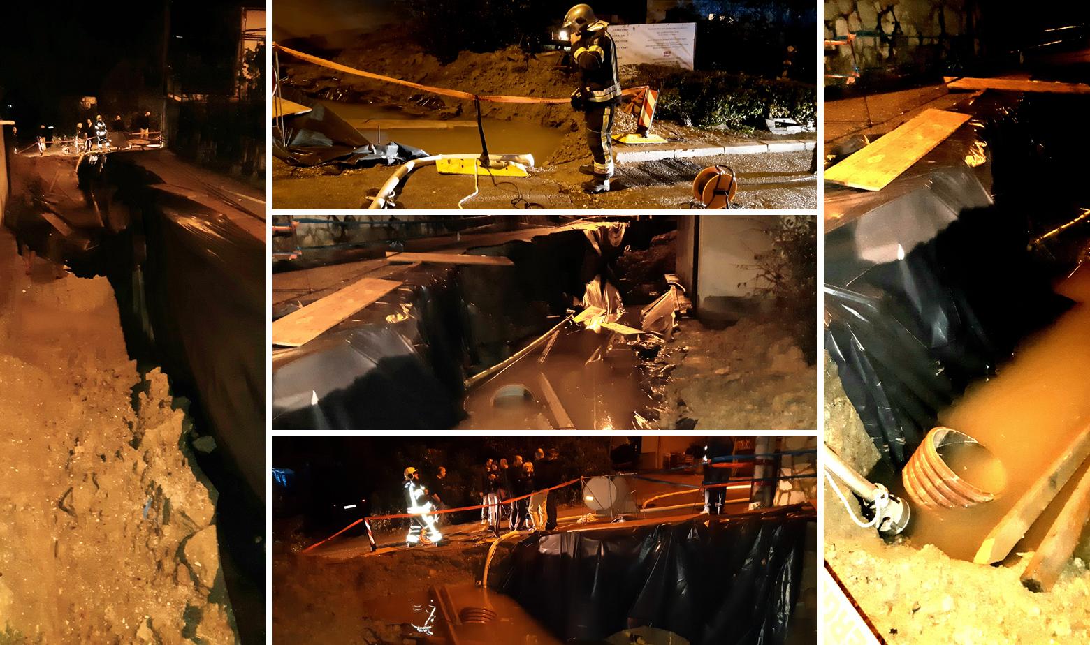Na cestu u ulici Lea Mullera 12 u Zagrebu urušio se potporni zid