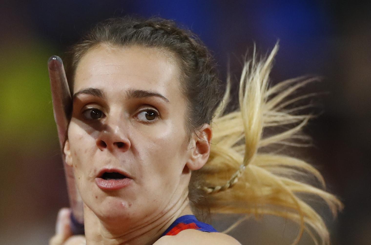 Athletics - World Athletics Championships - Doha 2019 - Women's Javelin Throw Final - Khalifa International Stadium, Doha, Qatar - October 1, 2019  Croatia's Sara Kolak in action REUTERS/Kai Pfaffenbach - UP1EFA11IX5UM