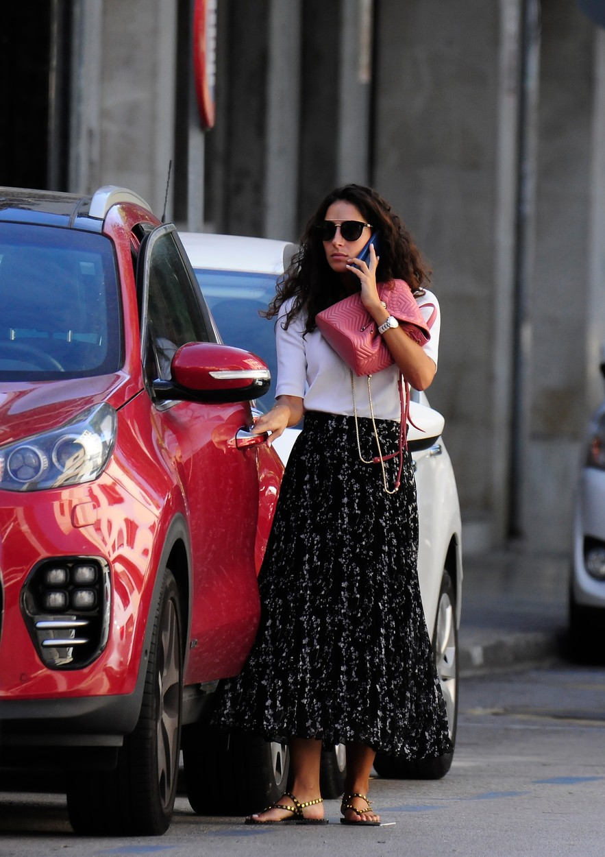 EXCLUSIVE: Maria Francisca Perello is seen the day before she is due to marry tennis ace Rafael Nadal in Majorca, Spain.  Maria, 31, also known as Xisca, was spotted leaving a beauticians and running errands as last minute preparations for the glitzy wedding go ahead.  She was seen talking on the phone and chatting to female friends while out and about.  According to reports she and Nadal, 33, will tie the knot in a private ceremony at a fortress called La Fortaleza on the Spanish island on Saturday (October 19, 2019). 18 Oct 2019, Image: 477603848, License: Rights-managed, Restrictions: NO Portugal, Spain, Model Release: no, Credit line: MEGA / Mega Agency / Profimedia