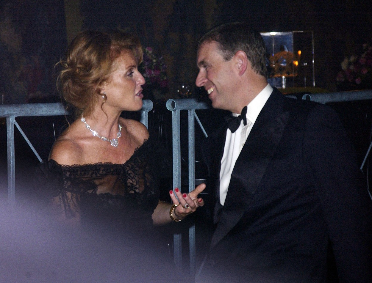 6 January 2015.  Prince Andrew's problems continue.  Here, stock image: 12/09/2002 Garrard celebrate a new era in their history with a party at The Tower of London Sarah Ferguson, Duchess of York with her husband Prince Andrew, Duke of York, Image: 214636151, License: Rights-managed, Restrictions: **No UK Sales**, Model Release: no, Credit line: ADavidson / Goff Photos / Profimedia