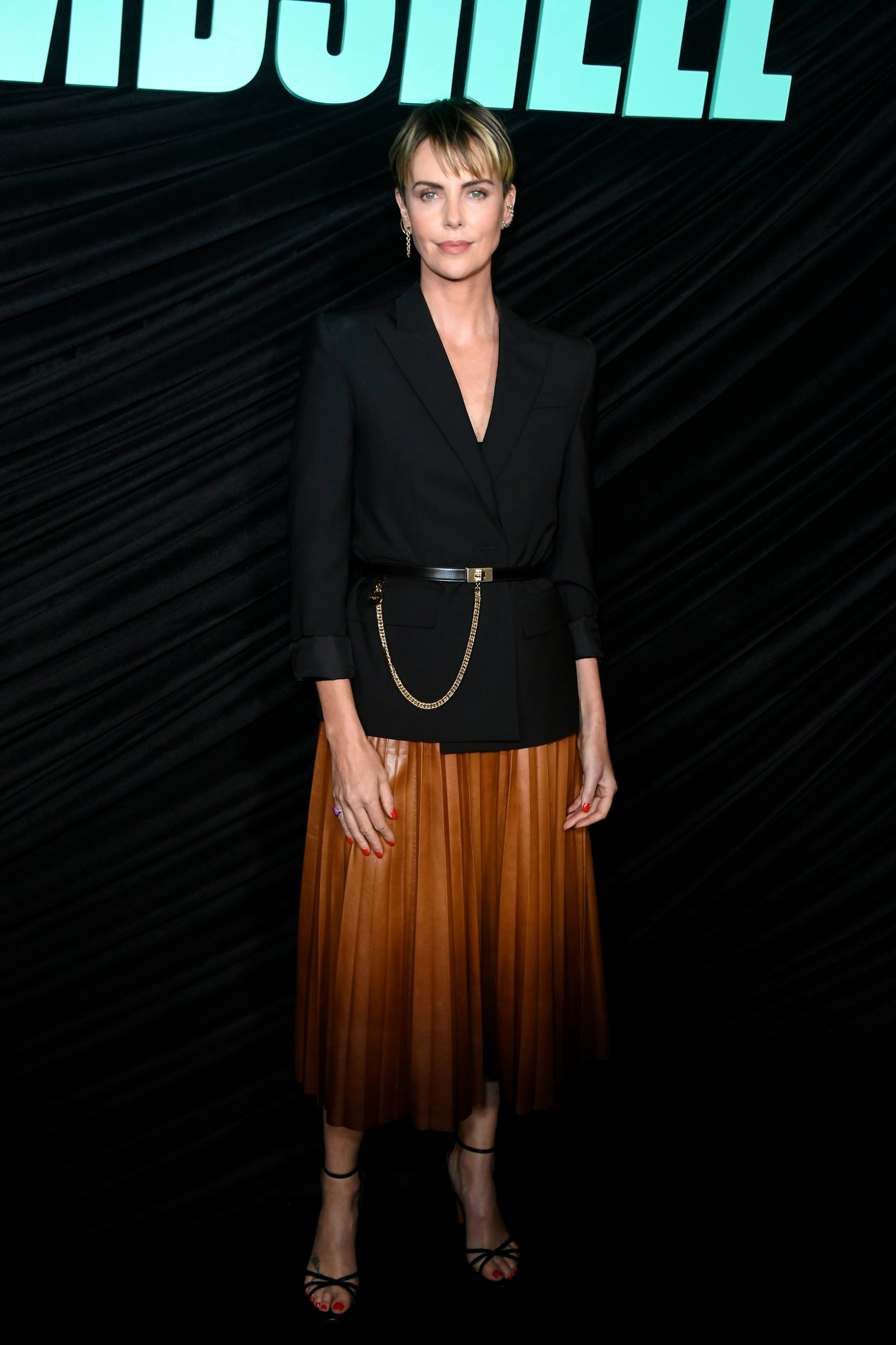 WEST HOLLYWOOD, CALIFORNIA - OCTOBER 13: Charlize Theron attends a special screening of Lionsgates'