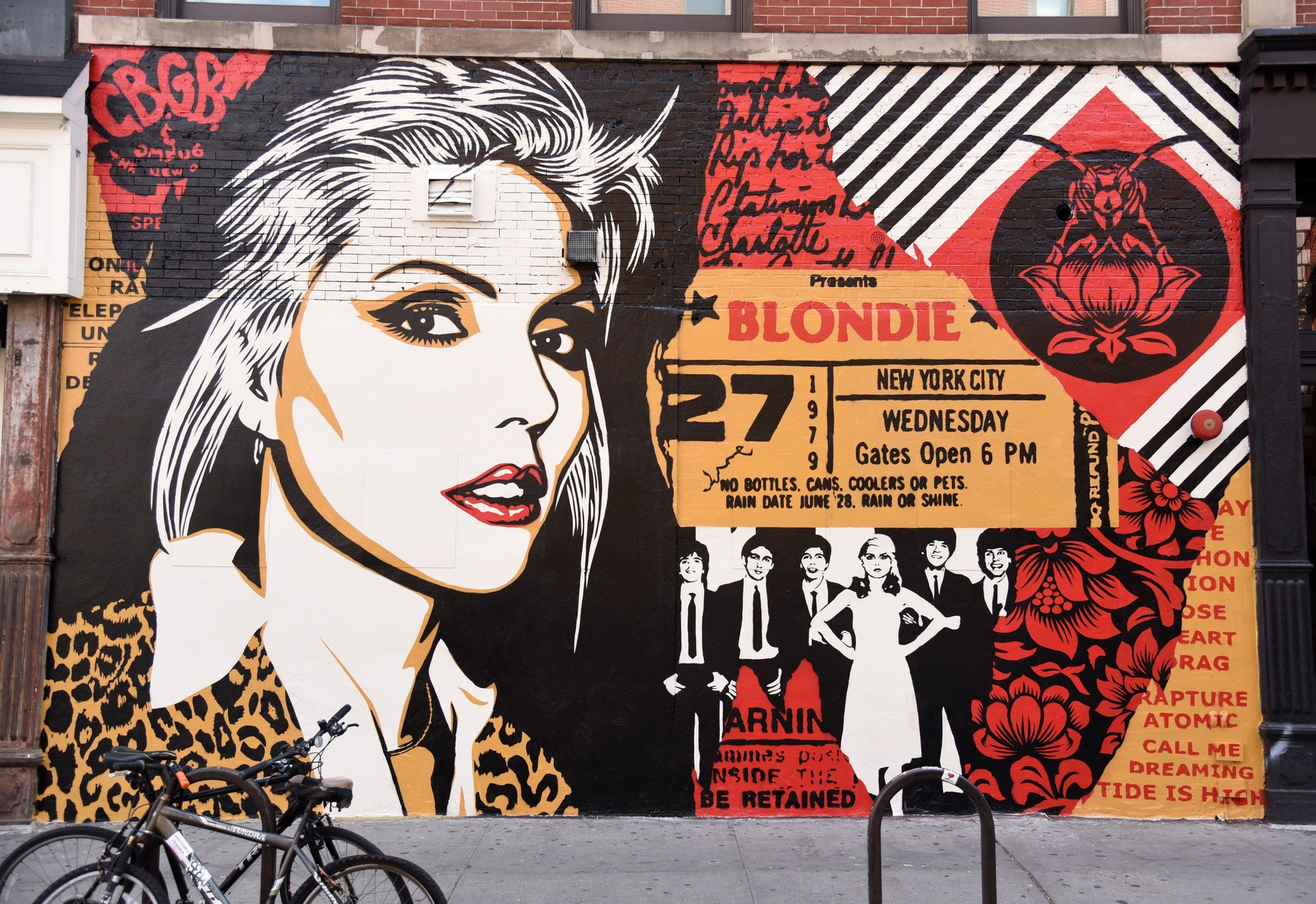 Street Art out and about for Shepard Fairey Unveiled New Mural of Blondie's Debbie Harry, across from the old CBGB's at Bowery and Bleecker, New York, NY August 24, 2017., Image: 346393816, License: Rights-managed, Restrictions: For usage credit please use; Derek Storm/Everett Collection, Model Release: no, Credit line: Derek Storm / Everett / Profimedia