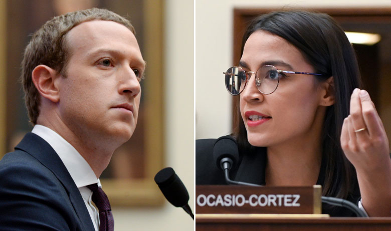 Mark Zuckerberg, Alexandria Ocasio-Cortez