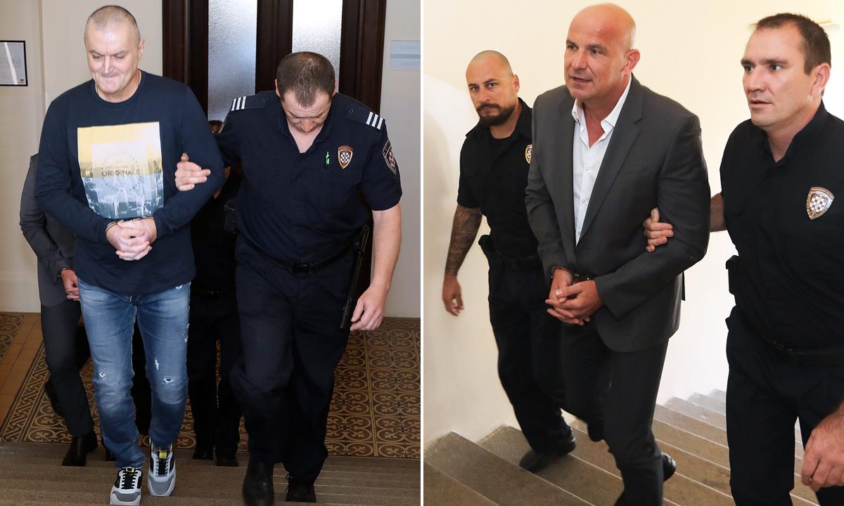 Na fotografiji: Osumnjičeni Milan Bulat (lijevo) i Dragan Baković-Bambur