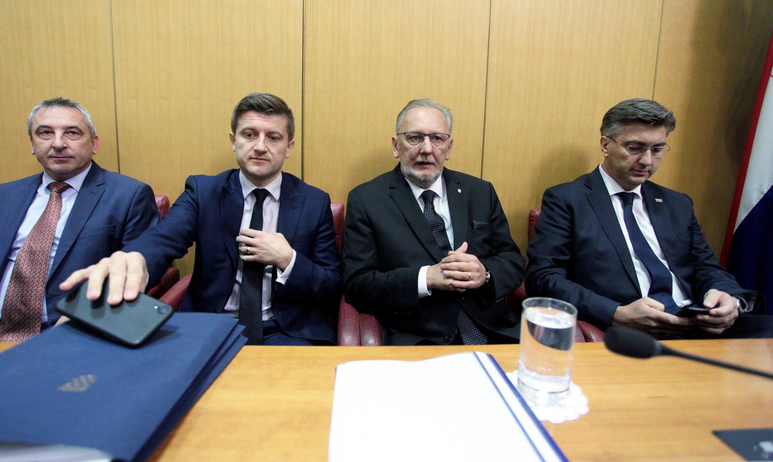 Predrag Štromar, Zdravko Marić, Davor Božinović, Andrej Plenković