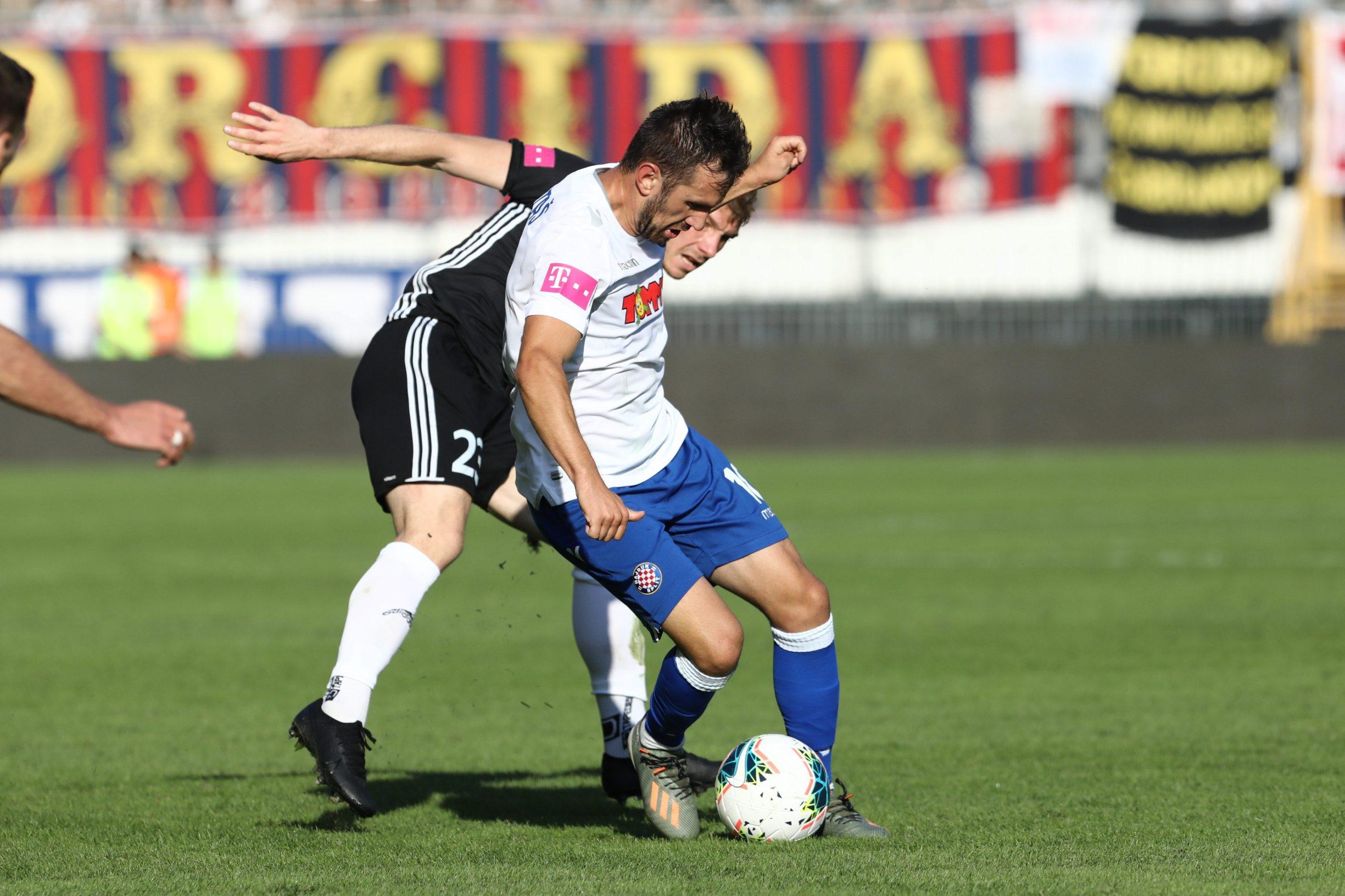 Split, 261019. Stadion u Poljudu. Utakmica 1. HNL izmedju Hajduka i Slaven Belupa. Na fotografiji: Anthony Kalik. Foto: Vojko Basic / CROPIX