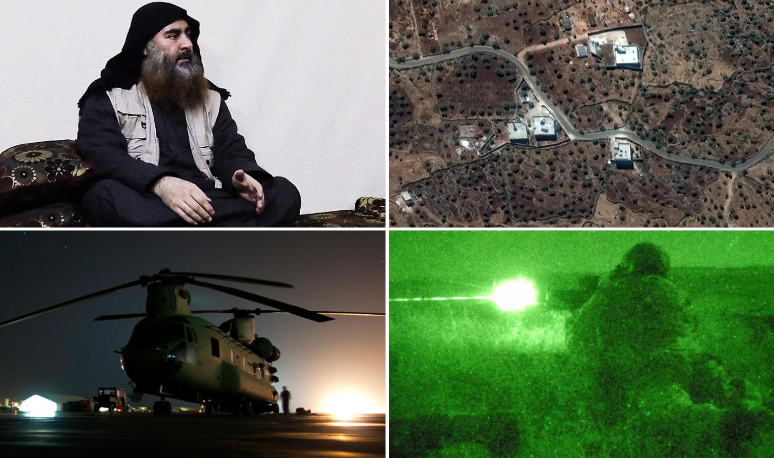Abu Bakr Al-Bagdadi, kompleks u kojem se skrivao i ilustracije američkog helikoptera Chinook i pripadnika Delta postrojbi