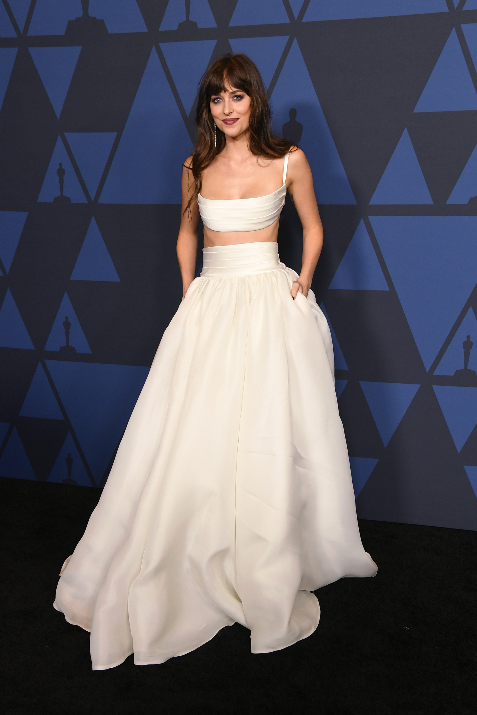 HOLLYWOOD, CALIFORNIA - OCTOBER 27: Dakota Johnson attends the Academy Of Motion Picture Arts And Sciences' 11th Annual Governors Awards at The Ray Dolby Ballroom at Hollywood & Highland Center on October 27, 2019 in Hollywood, California. (Photo by Kevin Winter/Getty Images)