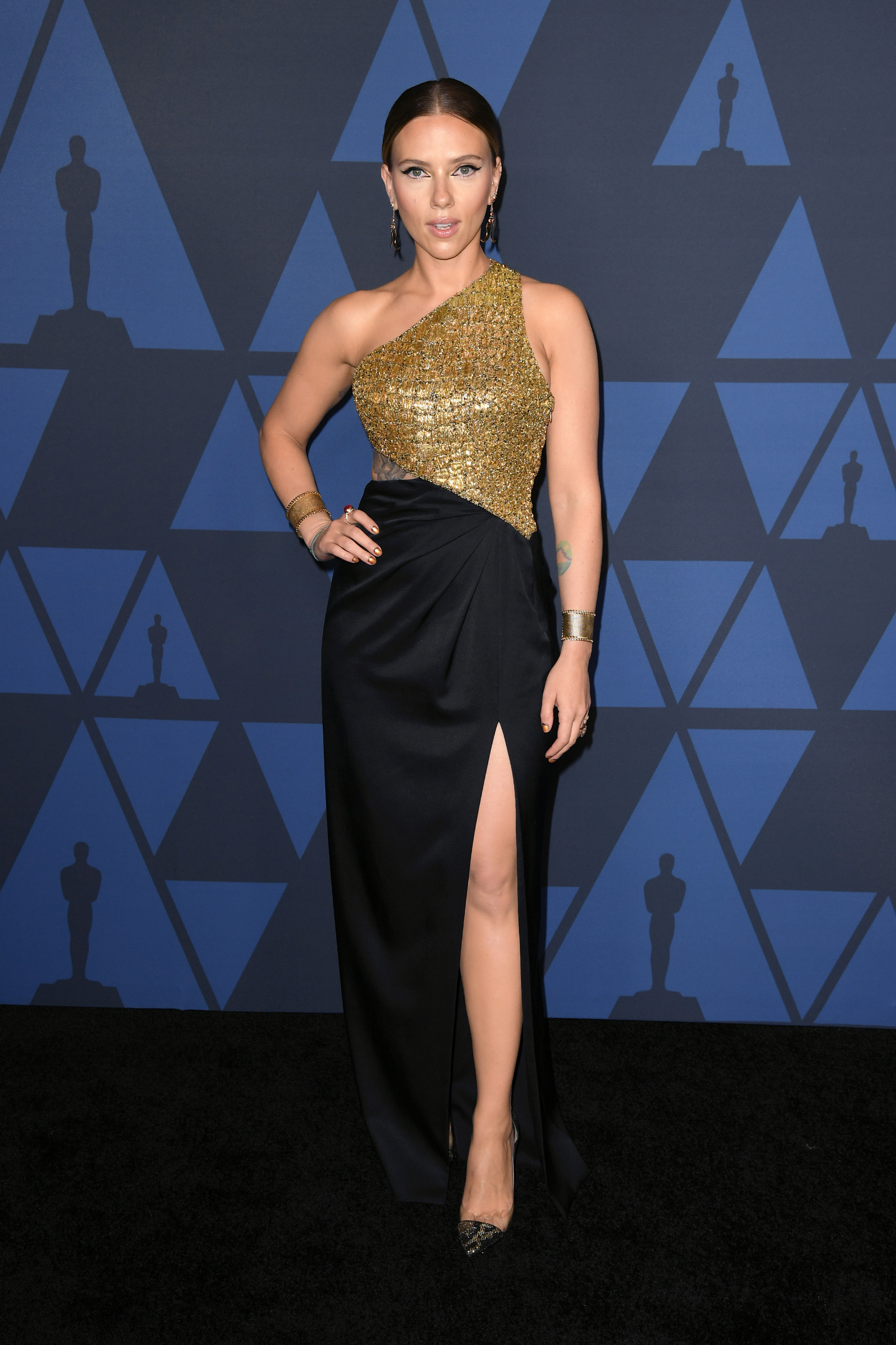 HOLLYWOOD, CALIFORNIA - OCTOBER 27: Scarlett Johansson attends the Academy Of Motion Picture Arts And Sciences' 11th Annual Governors Awards at The Ray Dolby Ballroom at Hollywood & Highland Center on October 27, 2019 in Hollywood, California. (Photo by Kevin Winter/Getty Images)
