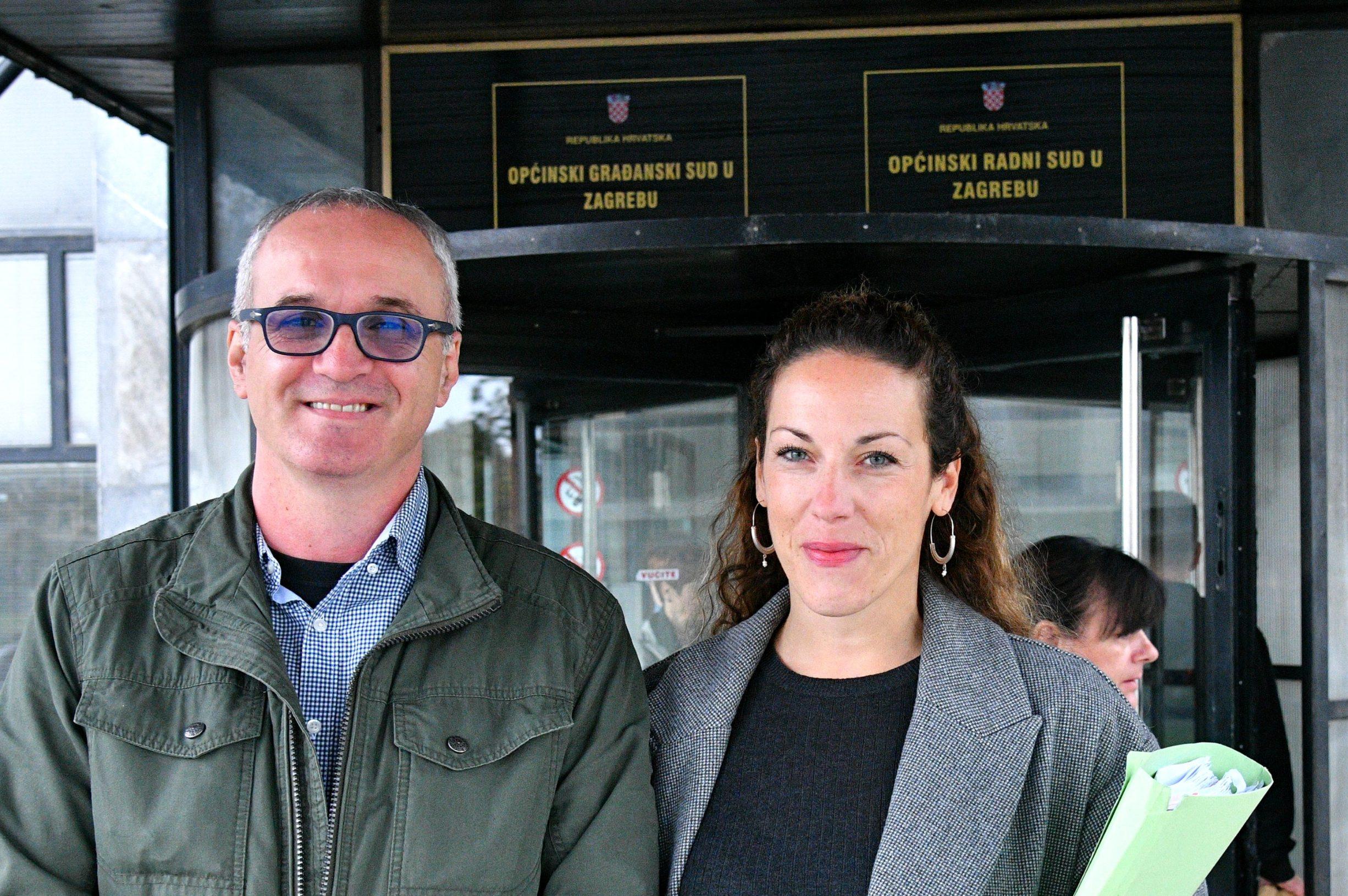 Hrvoje Zovko i odvjetnica Vanja Jurić
