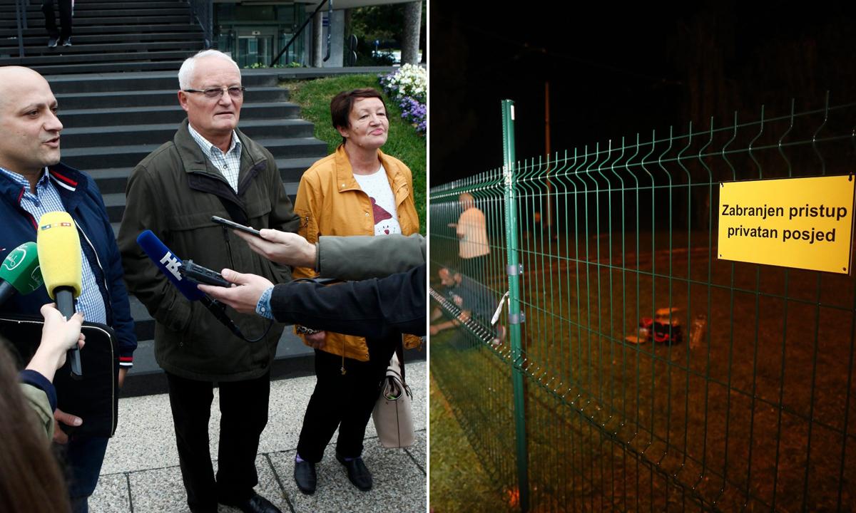 Obitelj Maršanić i ograda na mjestu gdje tramvajska pruga prolazi njihovim posjedom