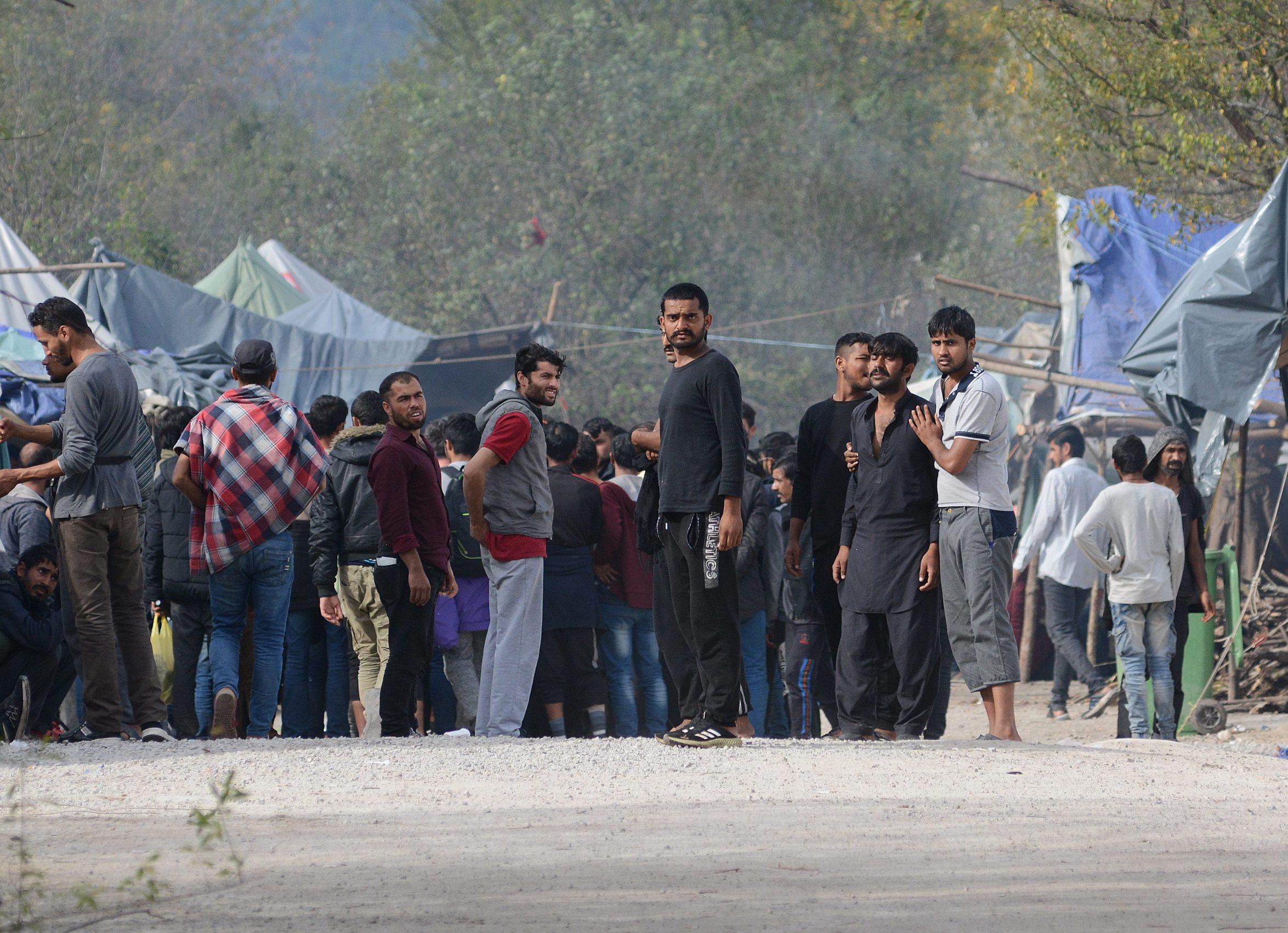 Migranti u kampu Vučjak kod Bihaća