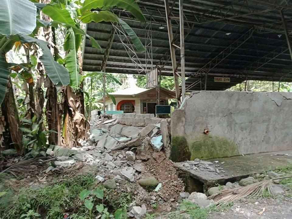 A damaged local town hall is seen in Mabini, Davao Del Sur, Philippines after a magnitude 6.6 earthquake struck Octiber 29, 2019 in this picture obtained from social media.   Jaypee Catalan via REUTERS  ATTENTION EDITORS - THIS IMAGE HAS BEEN SUPPLIED BY A THIRD PARTY. MANDATORY CREDIT. NO RESALES. NO ARCHIVES.