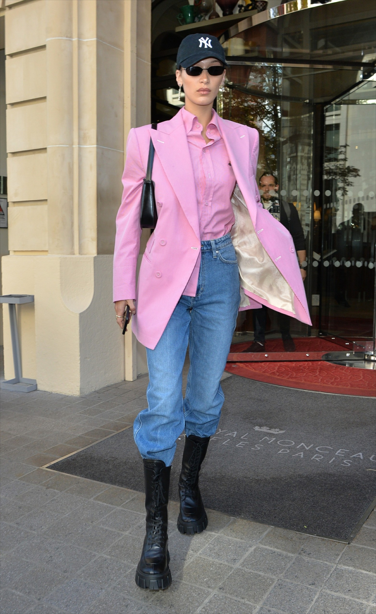 , Paris, France - 20190930 - Gigi and Bella Hadid seen out and about, both sporting brightly colored coats during Paris fashion week.  -PICTURED: Bella Hadid -, Image: 474315723, License: Rights-managed, Restrictions: , Model Release: no, Credit line: INSTARimages.com / INSTAR Images / Profimedia