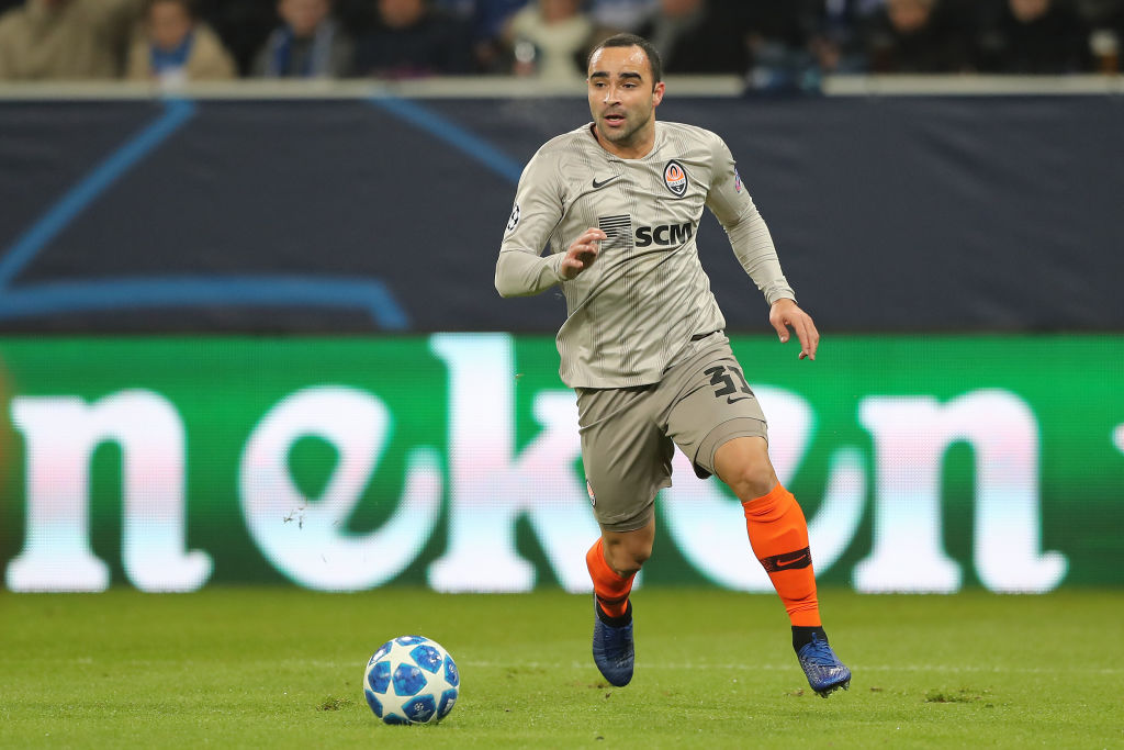 SINSHEIM, GERMANY - NOVEMBER 27:  Ismaily of FC Shakhtar Donetsk in action during the Group F match of the UEFA Champions League between TSG 1899 Hoffenheim and FC Shakhtar Donetsk at Wirsol Rhein-Neckar-Arena on November 27, 2018 in Sinsheim, Germany. (Photo by Christian Kaspar-Bartke/Bongarts/Getty Images)