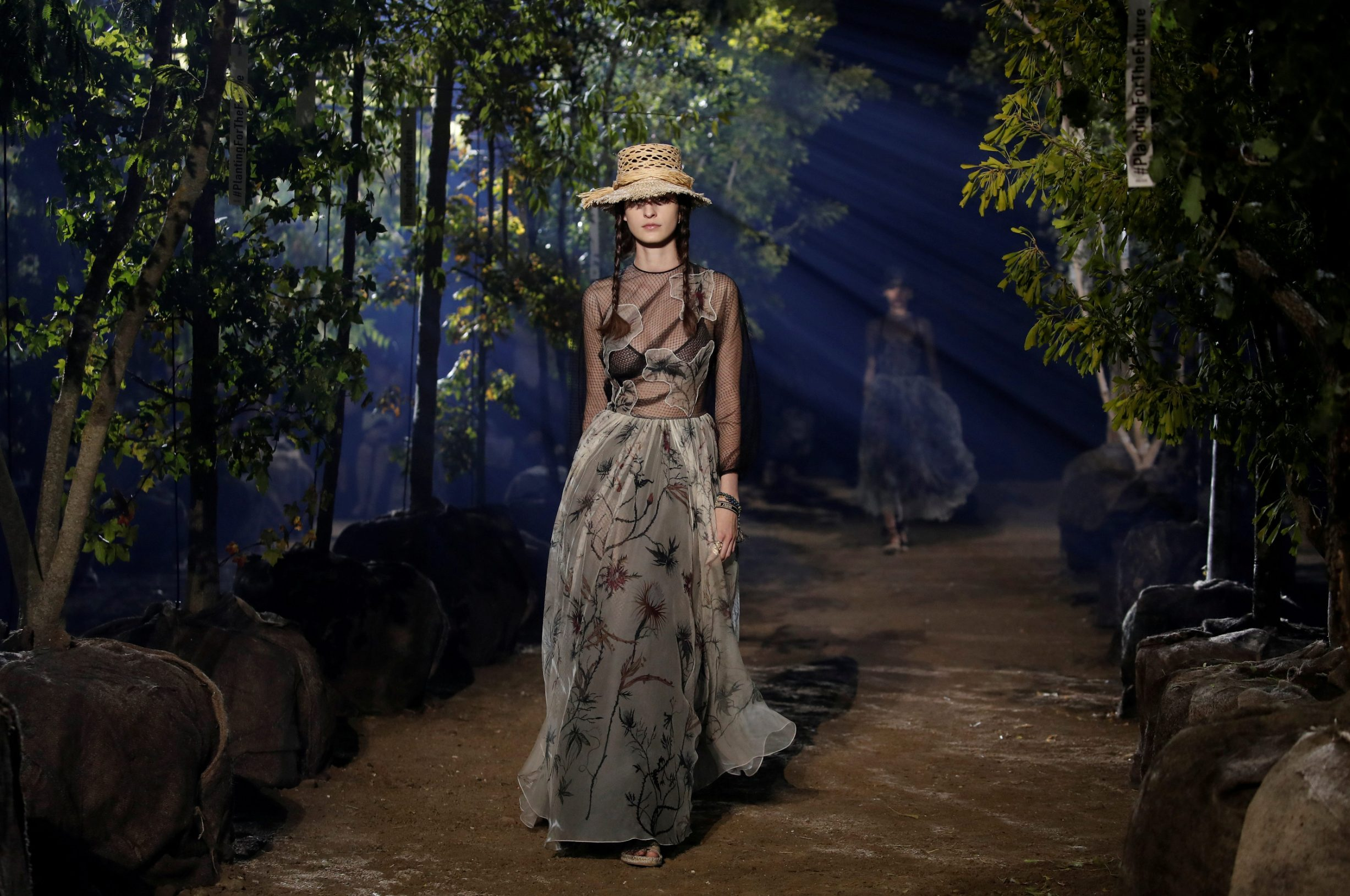 FILE PHOTO: A model presents a creation by designer Maria Grazia Chiuri as part of her Spring/Summer 2020 women's ready-to-wear collection show for fashion house Dior during Paris Fashion Week in Paris, France, September 24, 2019. REUTERS/Benoit Tessier/File Photo
