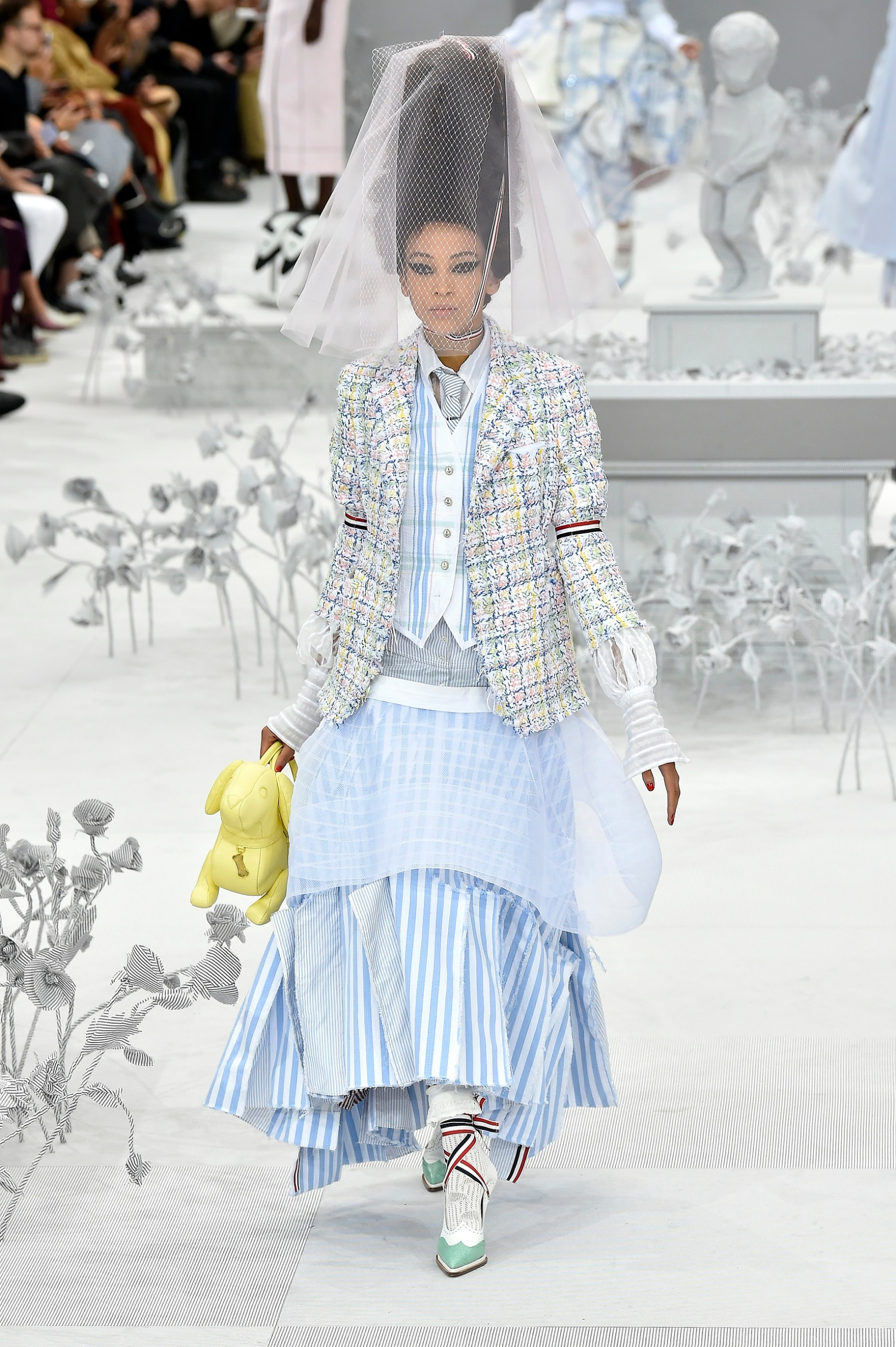 PARIS, FRANCE - SEPTEMBER 29: A model walks the runway during the Thom Browne Womenswear Spring/Summer 2020 show as part of Paris Fashion Week on September 29, 2019 in Paris, France. (Photo by Aurelien Meunier/Getty Images)