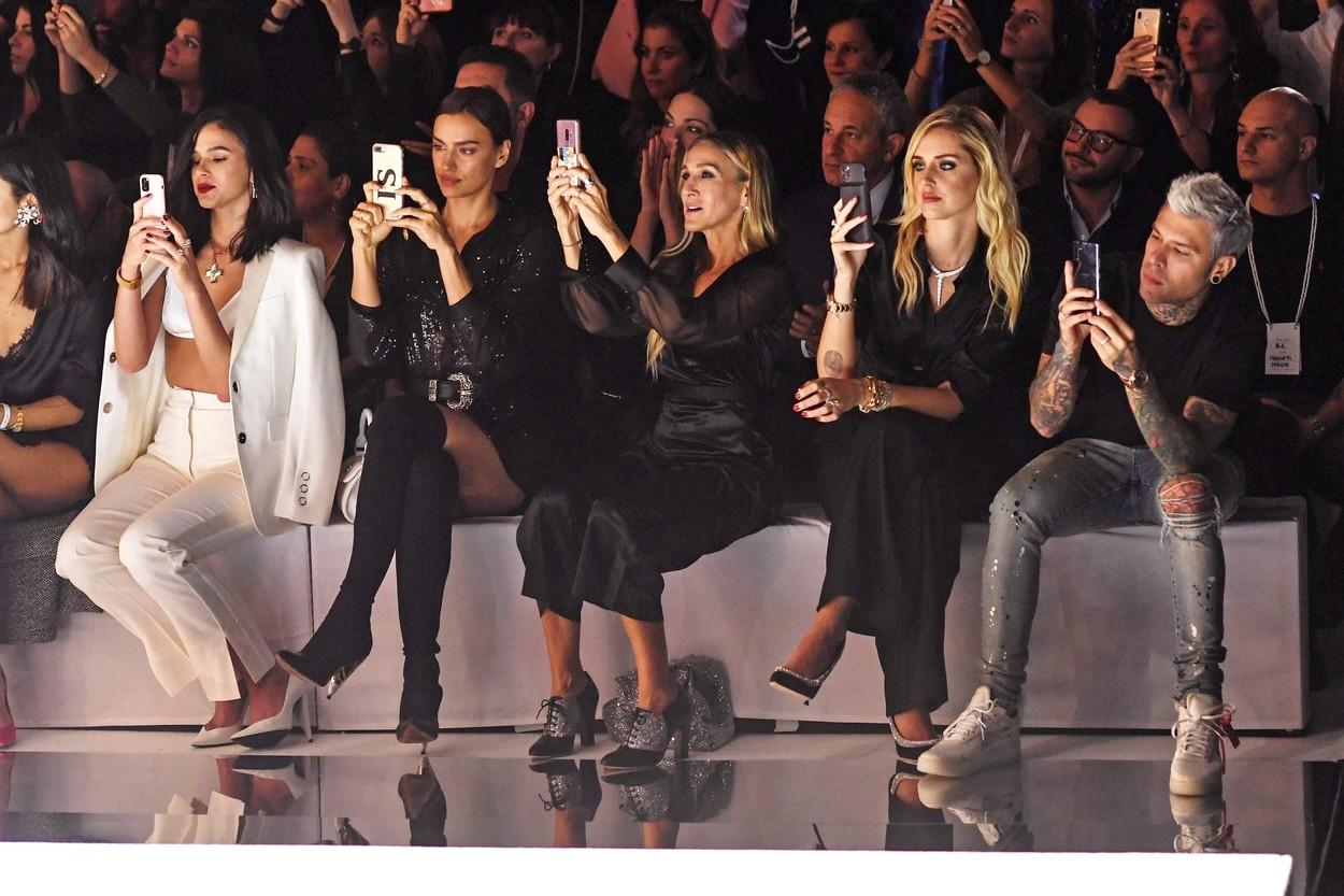Verona, ITALY  - Irina Shayk, Sarah Jessica Parker, Chiara Ferragni and Fedez attend the White Cabaret