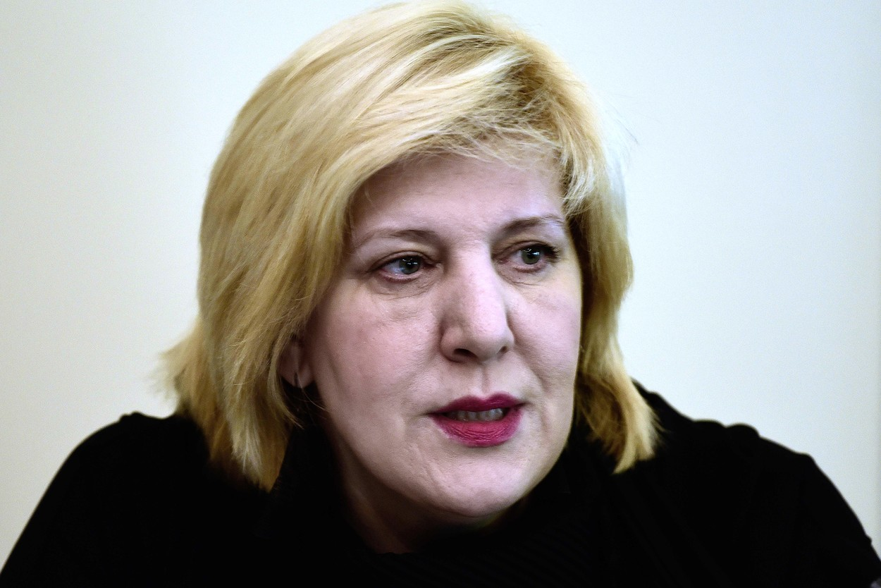 Dunja Mijatovic, the Council of Europe Commissioner for Human Rights, talks during a press conference on June 29, 2018 at the end of her five-day visit to Greece, focusing on migration and on the impact of austerity on human rights., Image: 376434338, License: Rights-managed, Restrictions: , Model Release: no, Credit line: LOUISA GOULIAMAKI / AFP / Profimedia