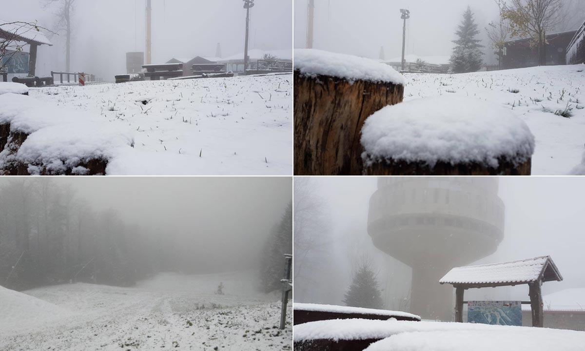 Snijeg na Sljemenu 31.10.2019.