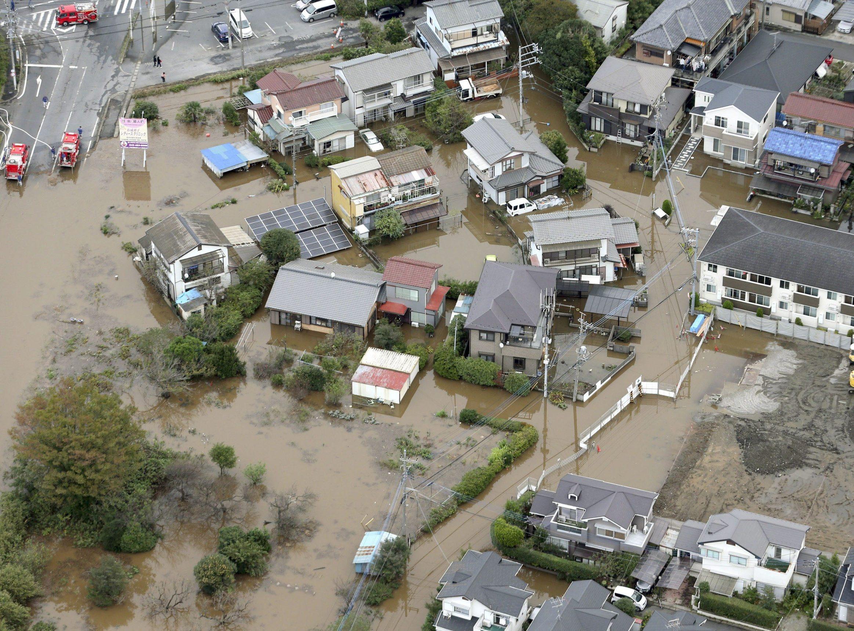 Ilustracija: Nedavne poplave u Japanu