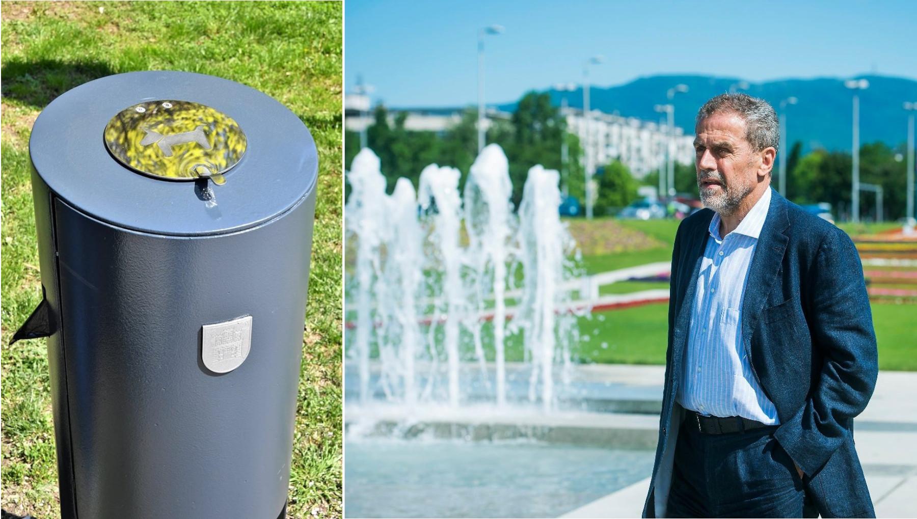 Milan Bandić i nove kante za smeće