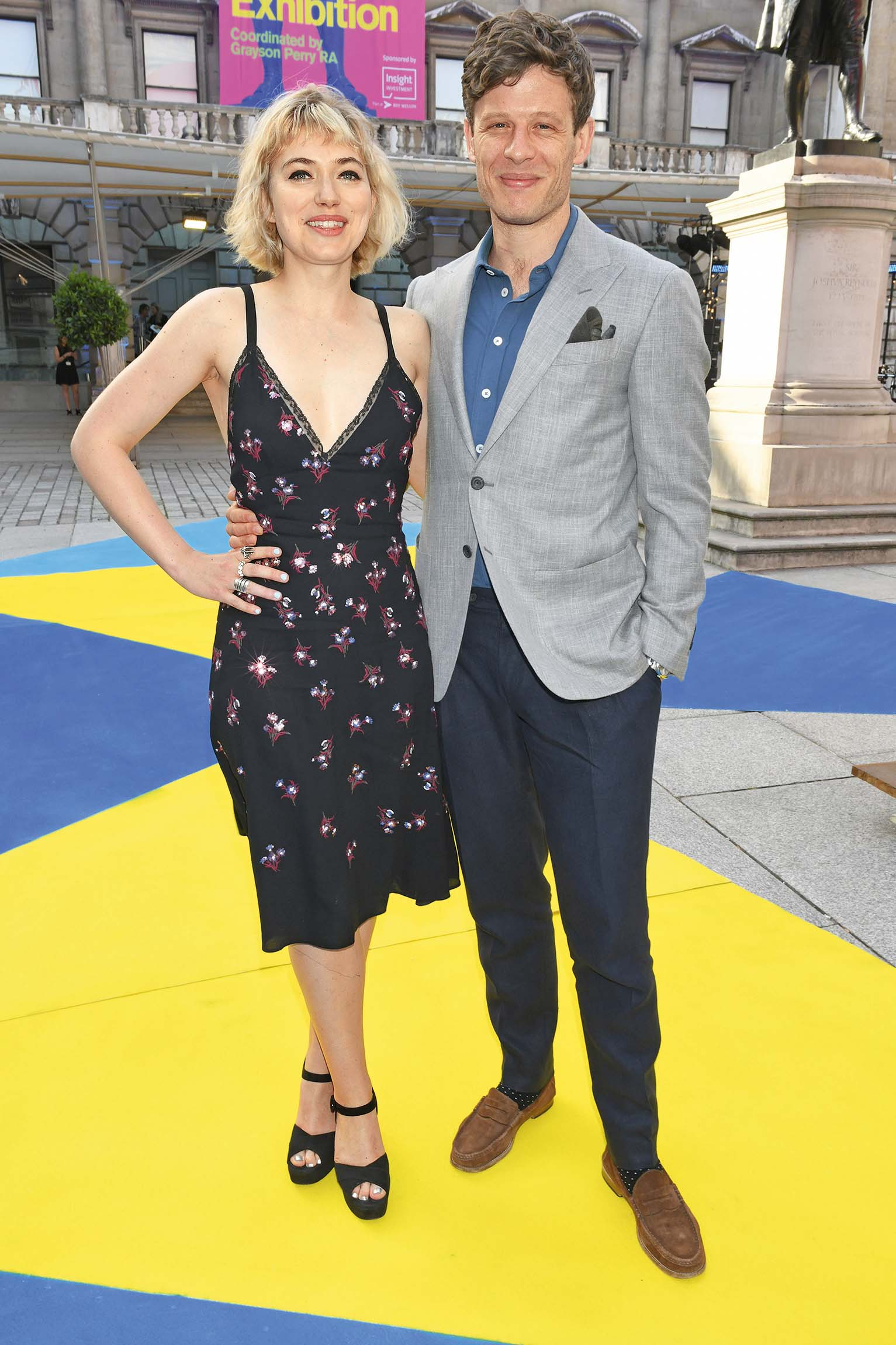 LONDON, ENGLAND - JUNE 06:  Imogen Poots (L) and James Norton attend the Royal Academy Of Arts summer exhibition preview party 2018 on June 6, 2018 in London, England.  (Photo by David M. Benett/Dave Benett/Getty Images)