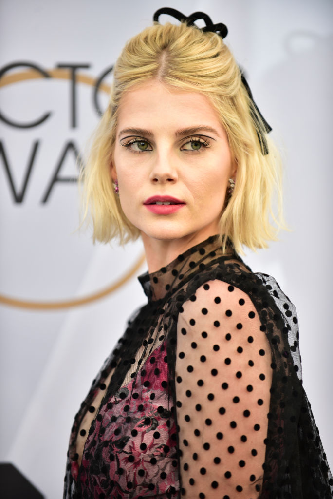 LOS ANGELES, CALIFORNIA - JANUARY 27: Lucy Boynton arrives at the 25th Annual Screen Actors Guild Awards at the The Shrine Auditorium on January 27, 2019 in Los Angeles, California. (Photo by Rodin Eckenroth/Getty Images)