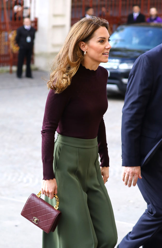 LONDON, ENGLAND - OCTOBER 09: Catherine, Duchess of Cambridge visits The Angela Marmont Centre For UK Biodiversity at Natural History Museum on October 09, 2019 in London, England. HRH is Patron of the Natural History Museum. (Photo by Tim P. Whitby/Getty Images)