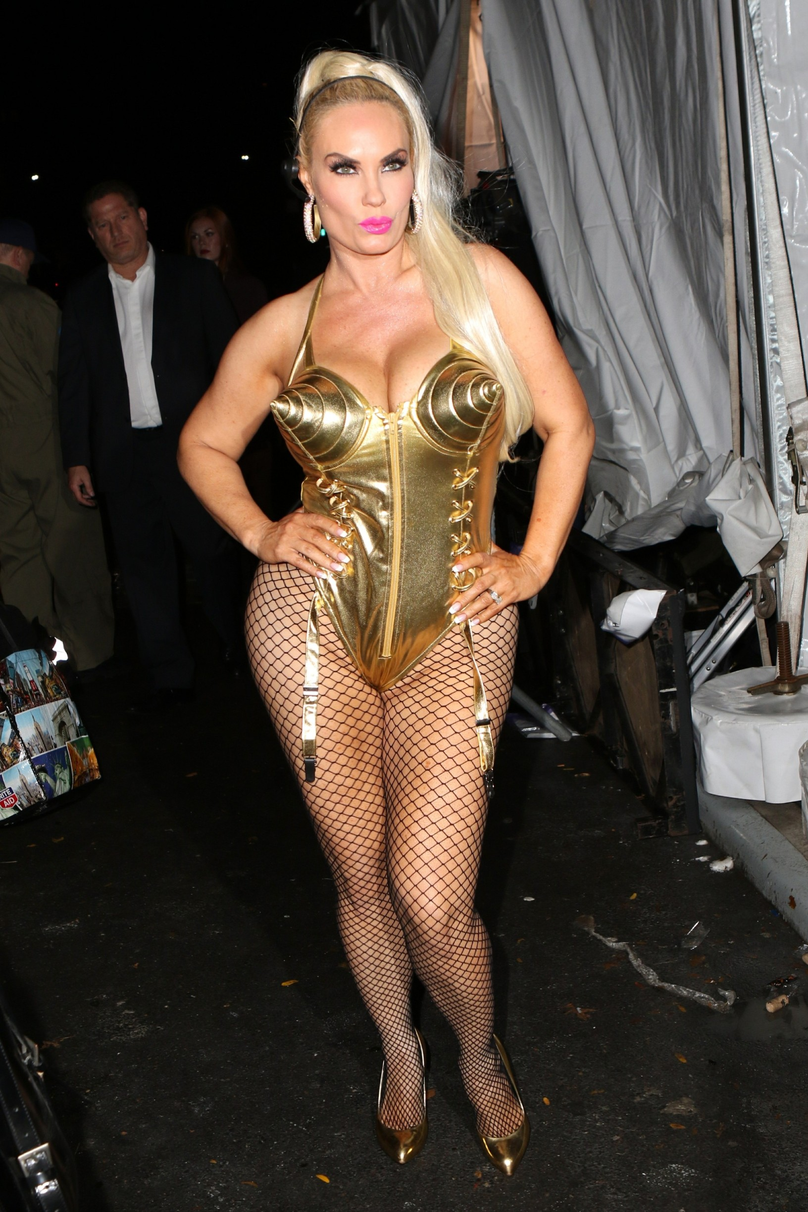 , New York, NY - 20191031 Guests arrive at Heidi Klum's 2019 Halloween party,  -PICTURED: Coco Austin -, Image: 480386173, License: Rights-managed, Restrictions: , Model Release: no, Credit line: NANCY RIVERA / INSTAR Images / Profimedia