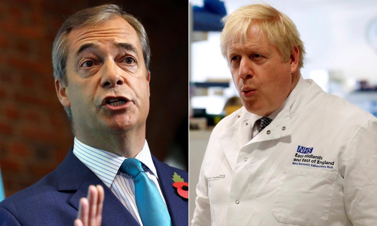 Nigel Farage, Boris Johnson