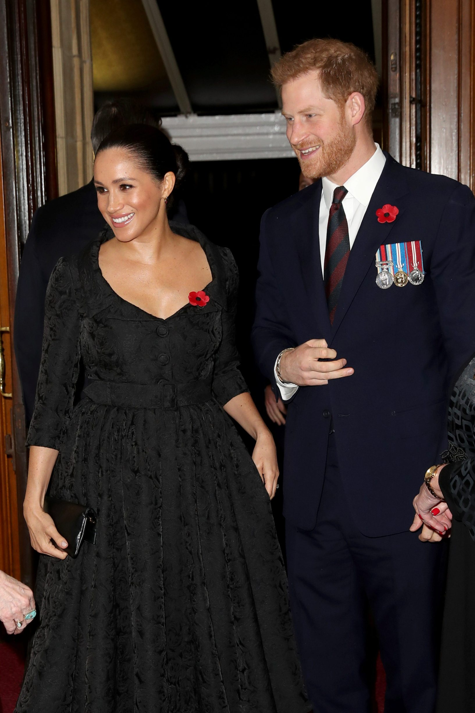 Britain's Prince Harry and Meghan, Duchess of Sussex, attend the annual Royal British Legion Festival of Remembrance at the Royal Albert Hall, London, Britain, November 9, 2019.  Chris Jackson/Pool/via REUTERS